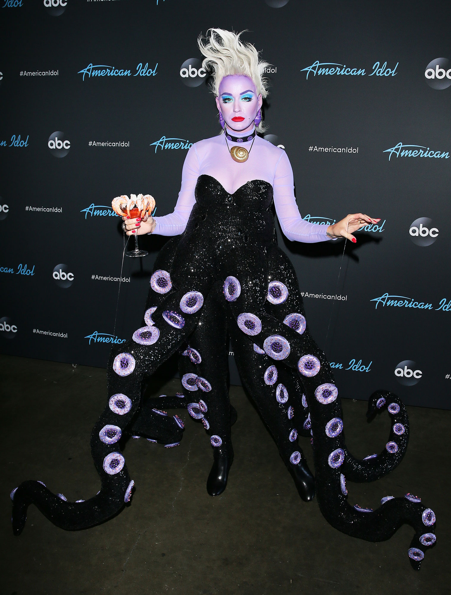 Katy Perry Wore Some of Her Wackiest Outfits Ever to the 2019 Met Gala - During American Idol's Disney-themed night, she channeled her inner villain dressing up as the Little Mermaid's Ursula.