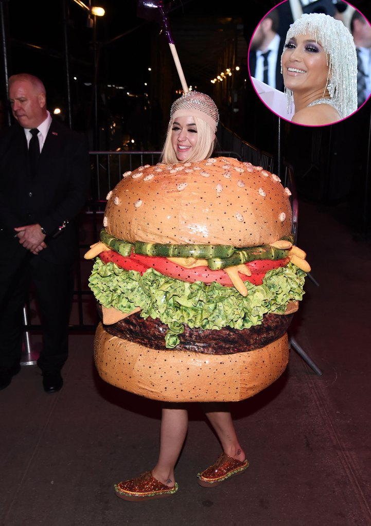 Katy Perry and Jennifer Lopez Burger Met Gala 2019