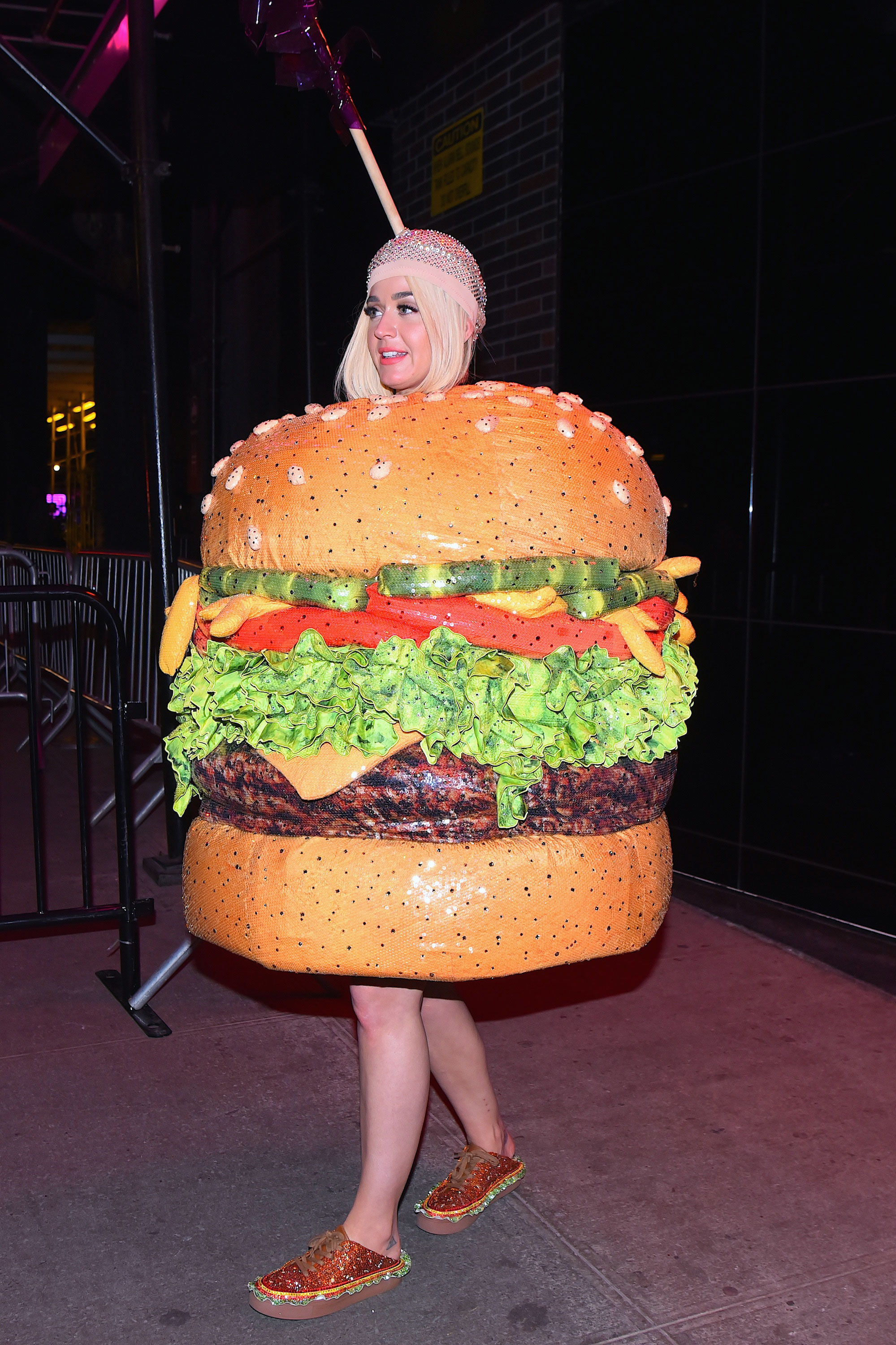 Katy Perry's Shoes Smell Like Fruit MET Gala After Party Cheeseburger - Katy Perry seen out on the 2019 MET Gala day on May 6, 2019 in New York City.