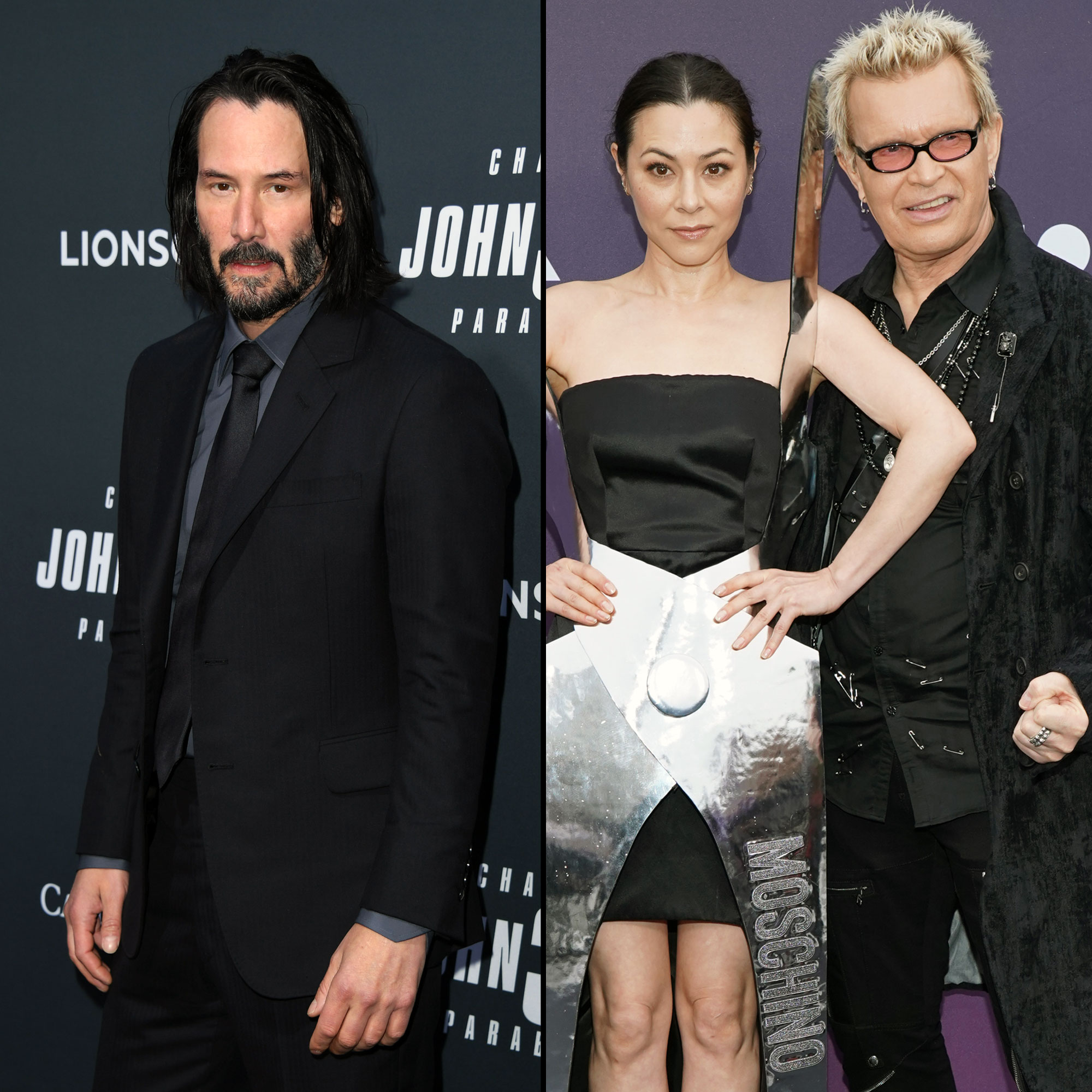 Keanu Reeves, Ex China Chow 'Flirting' Next to Boyfriend Billy Idol-1 - Keanu Reeves, China Chow, and Billy Idol
