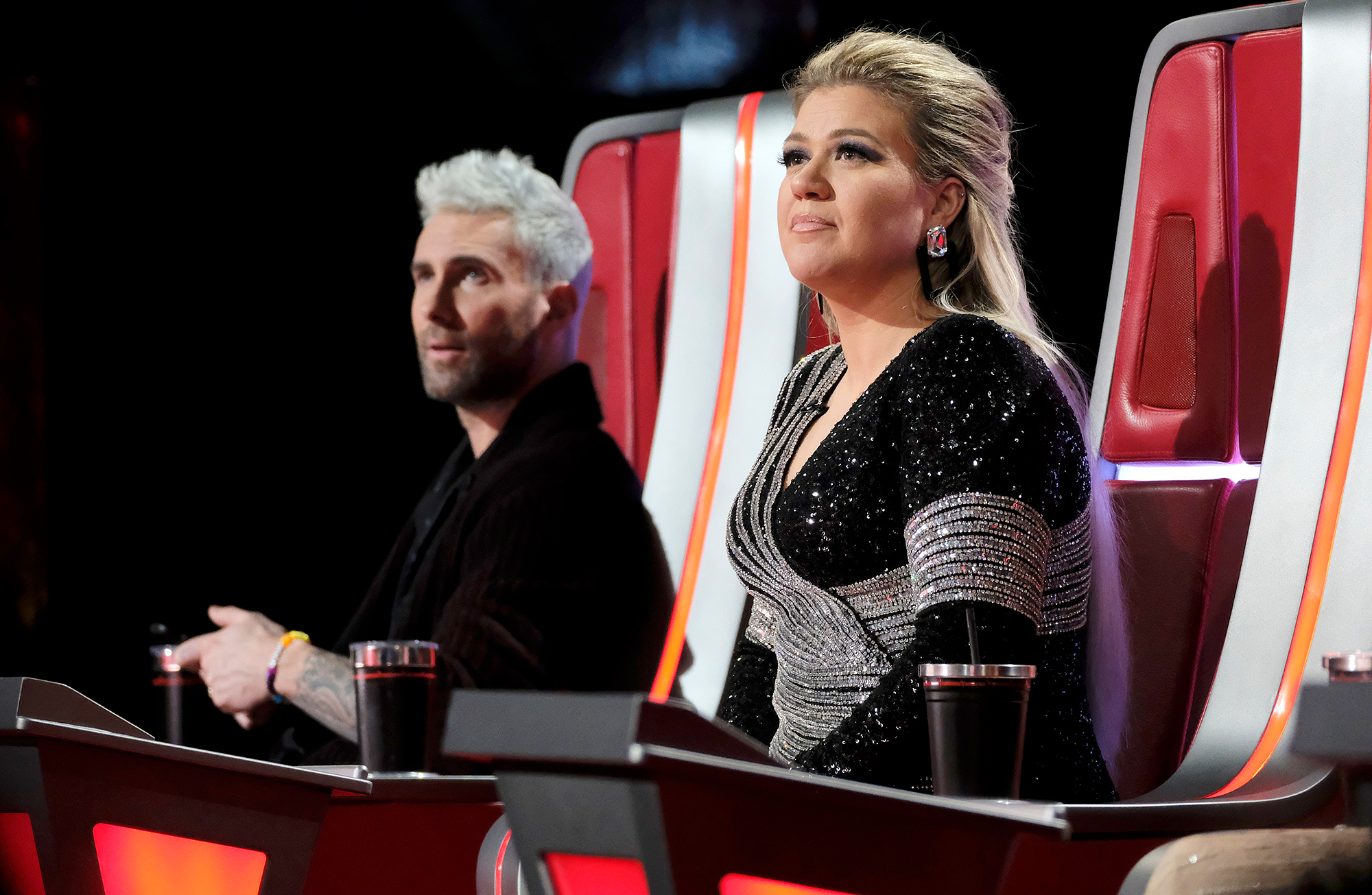 """Kelly-Clarkson-Adam-Levine - The American Idol season 1 winner, who joined The Voice as a coach in February 2018 , admitted that it will be strange to be on set without Levine. She wrote on Twitter: """"Found out last night about @adamlevine leaving The Voice & while I get that he's been doing the show 4 a while & wants to step away, it will be weird showing up 4 work & he's not there To start an amazing show from the ground up is a big deal!"""""""