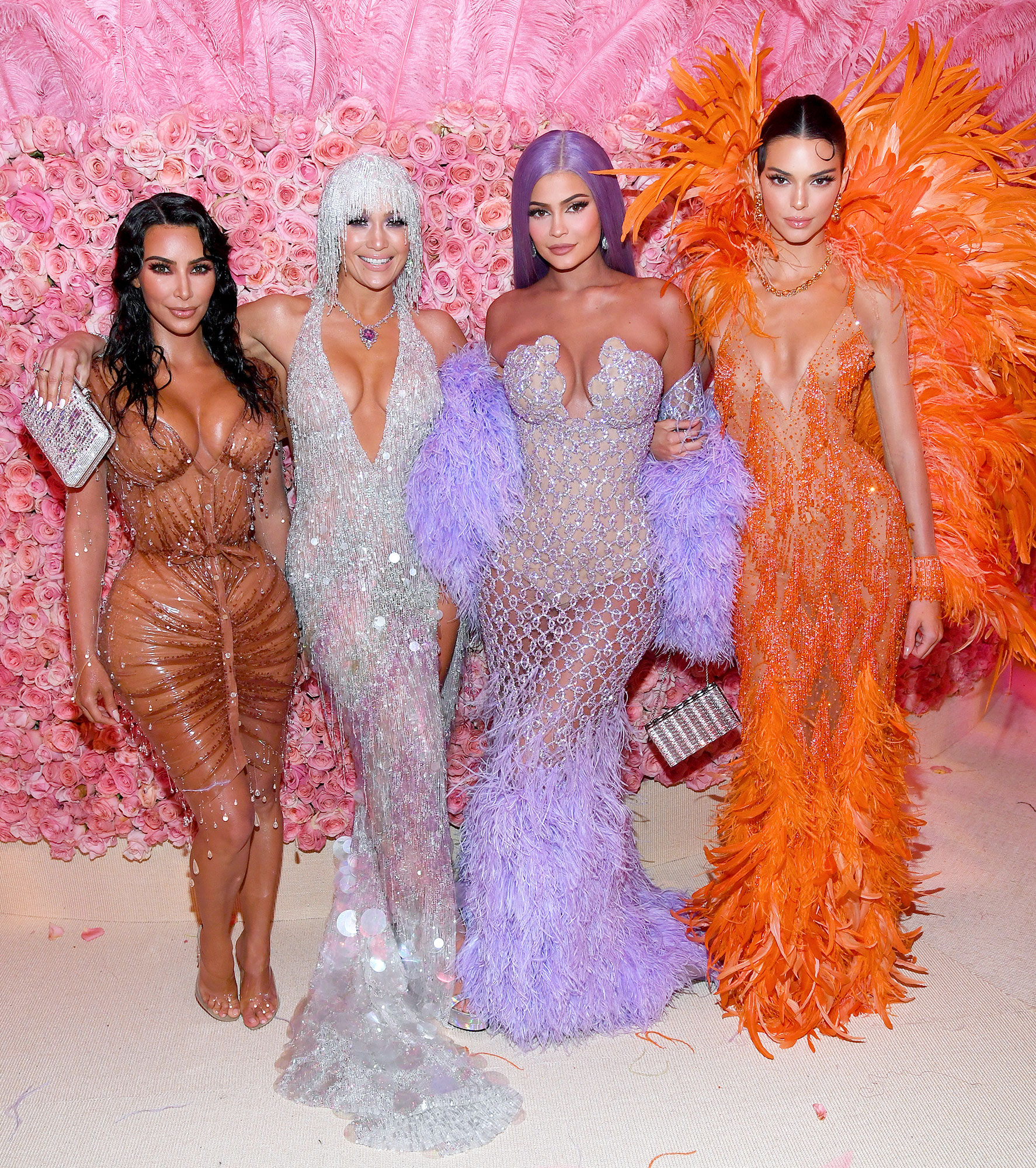 Met Gala 2019 What You Didnt See Kim Kardashian West Jennifer Lopez Kylie Jenner Kendall Jenner - Lopez looked like a part of the family while partying with Kardashian and Kendall and Kylie.