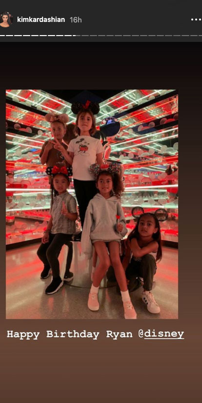 Kim Kardashian Takes North and Saint to Disneyland After Welcoming Baby No. 4