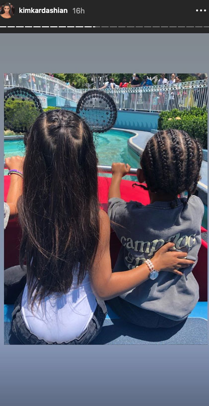 Kim Kardashian Takes North and Saint to Disneyland May 2019 - Kim and her eldest two children enjoyed a day at Disneyland in May 2019 after the makeup mogul's fourth child arrived.