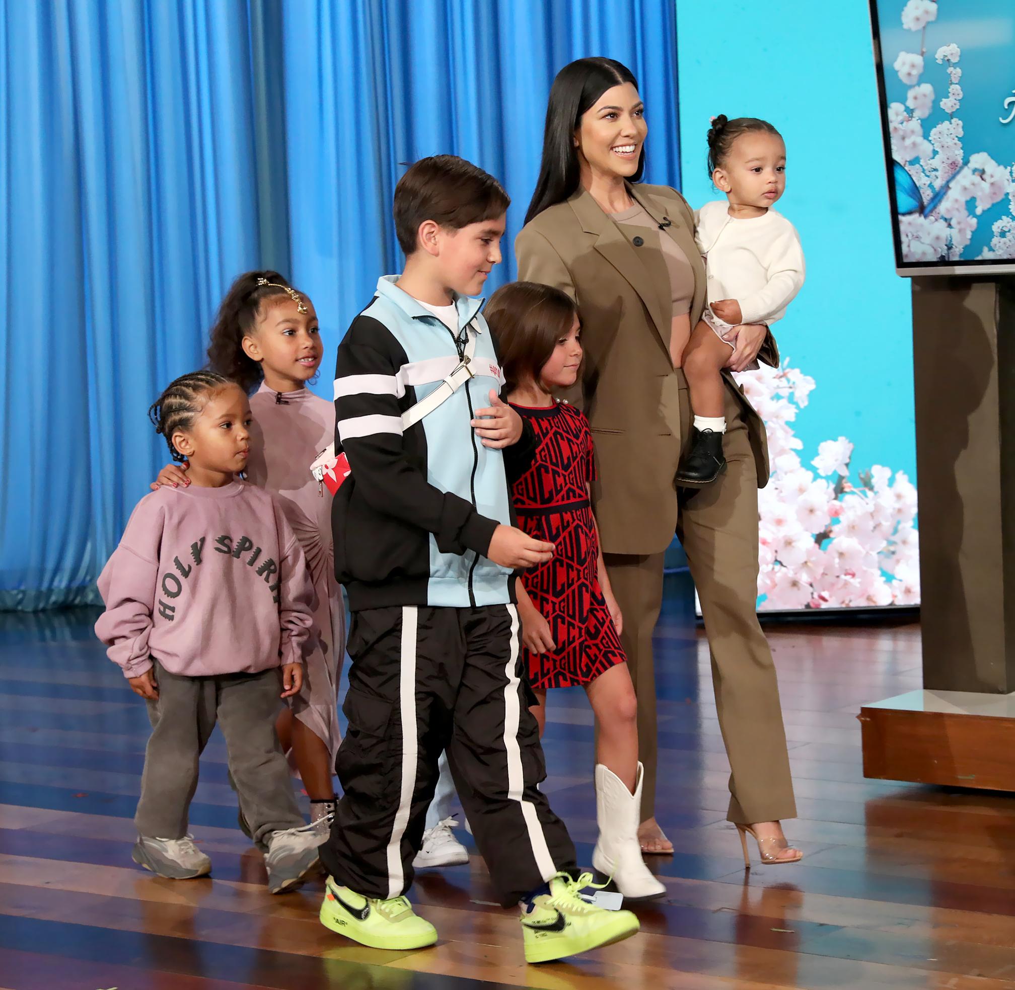 Kourtney-Kardashian-Kris-Jenner-kids-on-Ellen