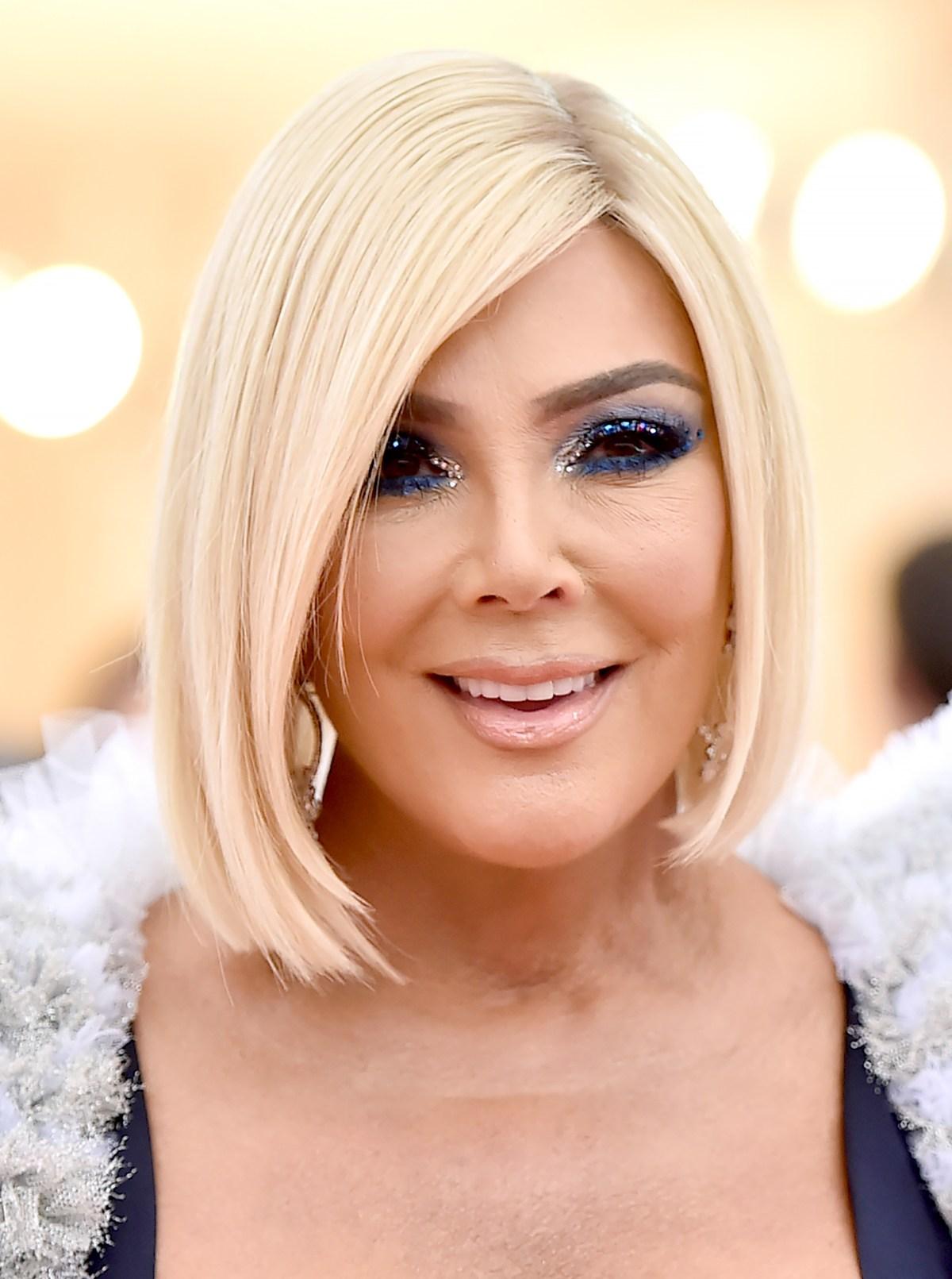 Sensational Met Gala 2019 Kris Jenner Wears Blonde Wig With Bf Corey Gamble Natural Hairstyles Runnerswayorg