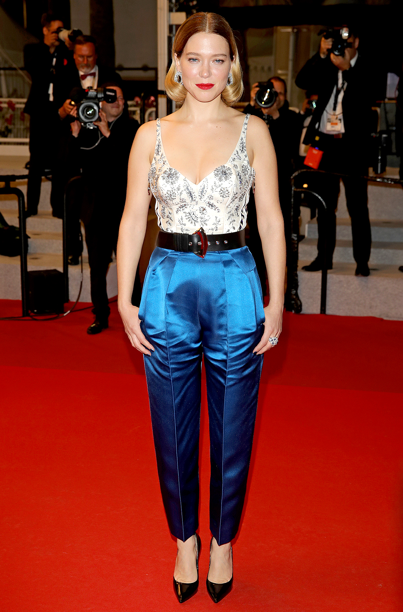 Lea-Seydoux - We love the boss-lady vibes of the Oh Mercy! actress' Louis Vuitton pantsuit at the film's premiere on Wednesday, May 22.