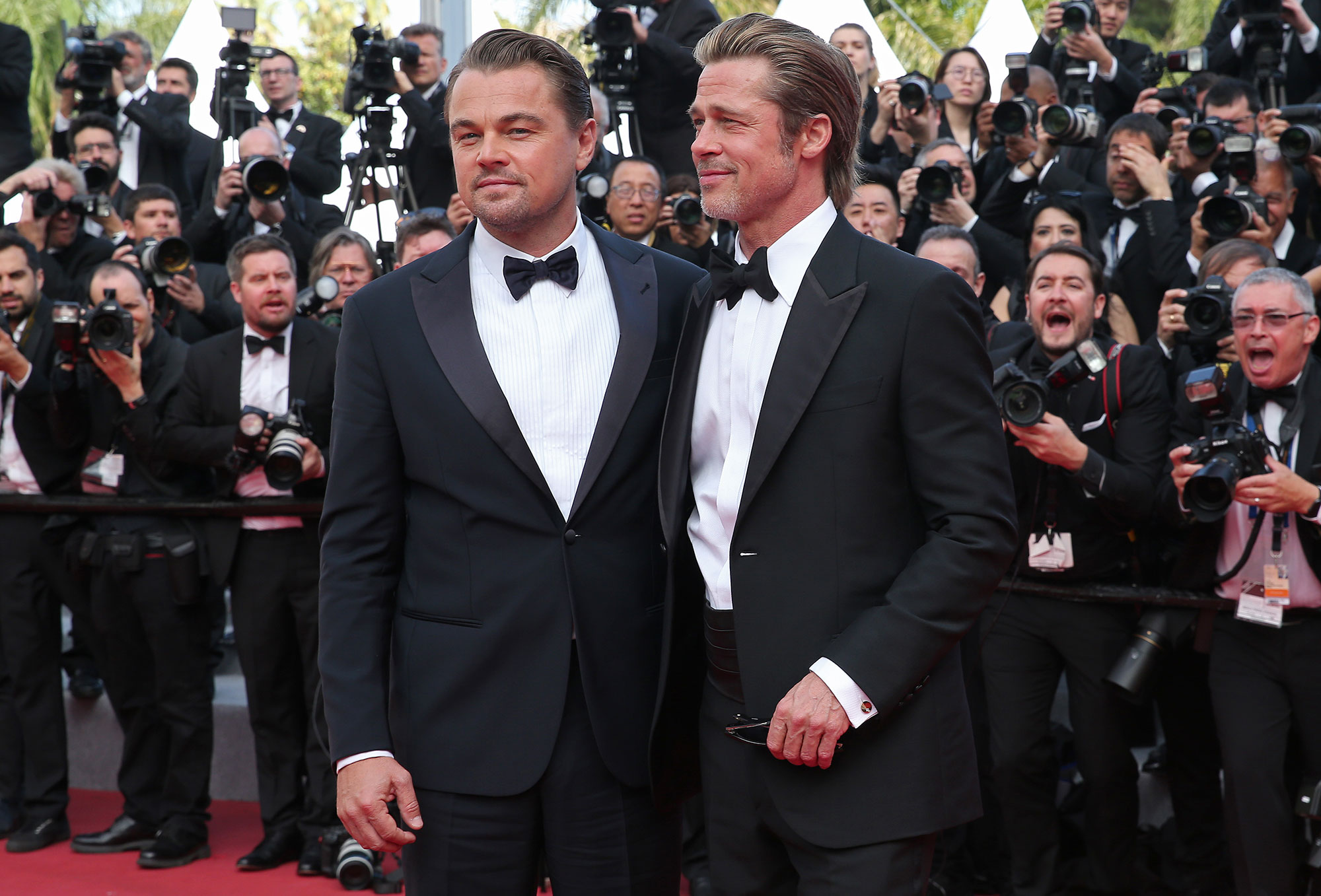 """Leonardo DiCaprio and Brad Pitt Cannes Film Festival 2019 Most Stylish Guys Red Carpet - Leonardo DiCaprio and Brad Pitt attends the screening of """"Once Upon A Time In Hollywood"""" during the 72nd annual Cannes Film Festival on May 21, 2019 in Cannes, France."""