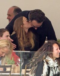 Mary-Kate Olsen Kisses Husband Olivier Sarkozy at Horseback Riding Event