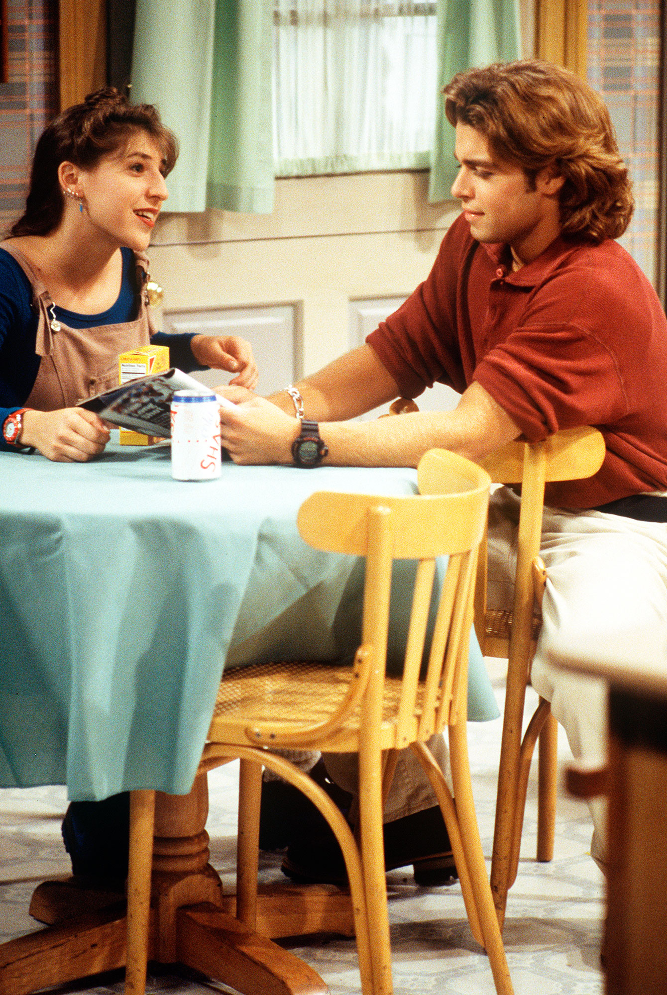Mayim Bialik Did Not Steal From Set Blossom - Mayim Bialik and Joey Lawrence during a season five episode of 'Blossom.