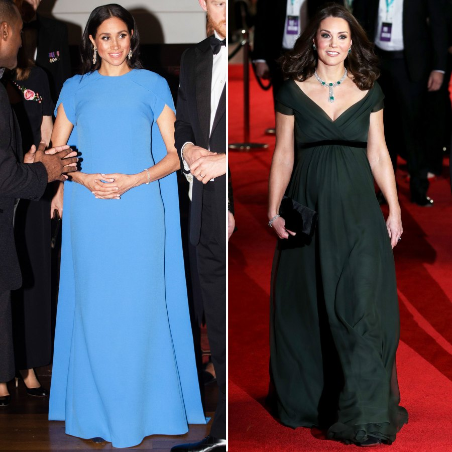Meghan Markle and Kate Middleton Maternity Style