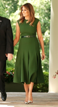 Melania Trump Makes the Case for a Classic Silhouette in a $2,000 Dress