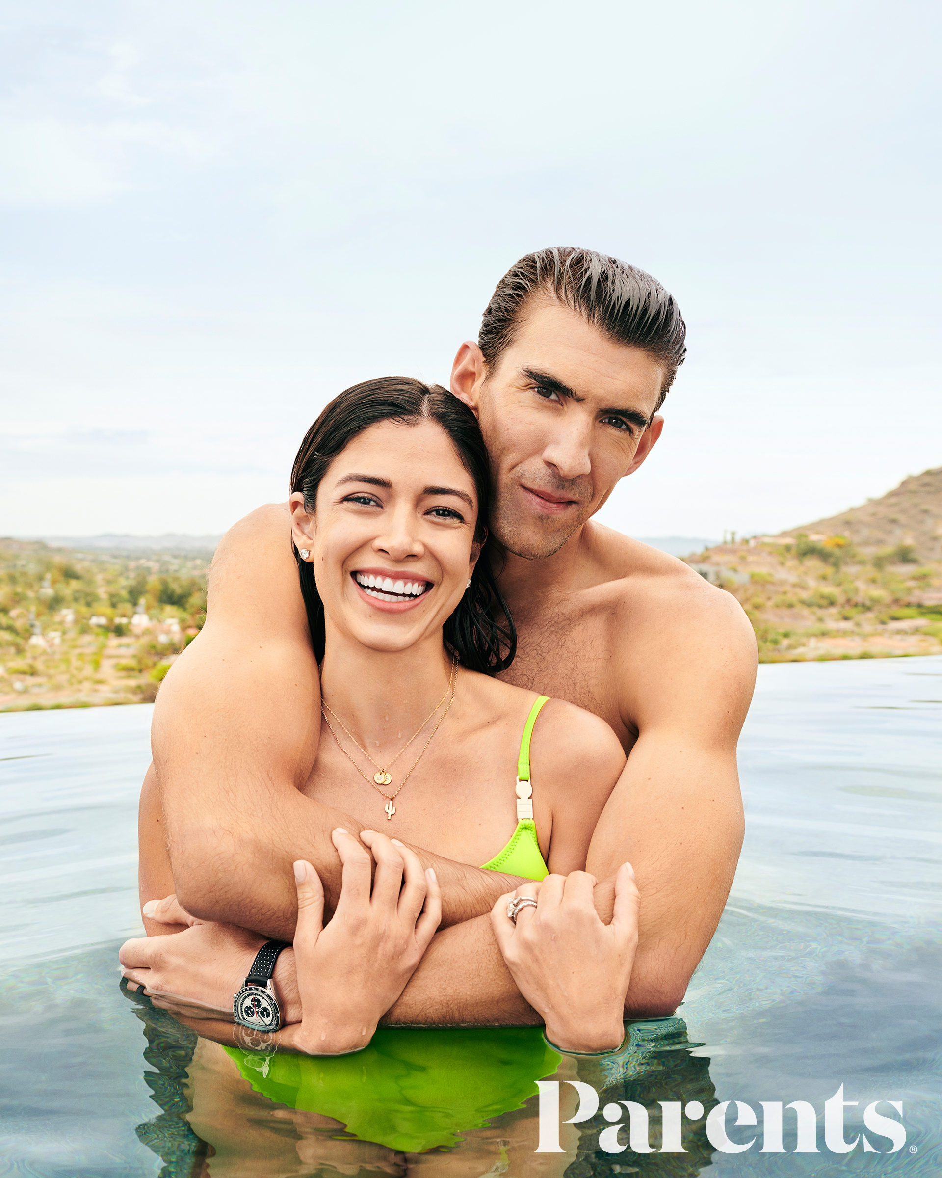 Michael Phelps Supporting Pregnant Wife Nicole Johnson Ahead Baby No. 3 - Michael Phelps and pregnant wife Nicole Johnson for the July 2019 issue of 'Parents' magazine.