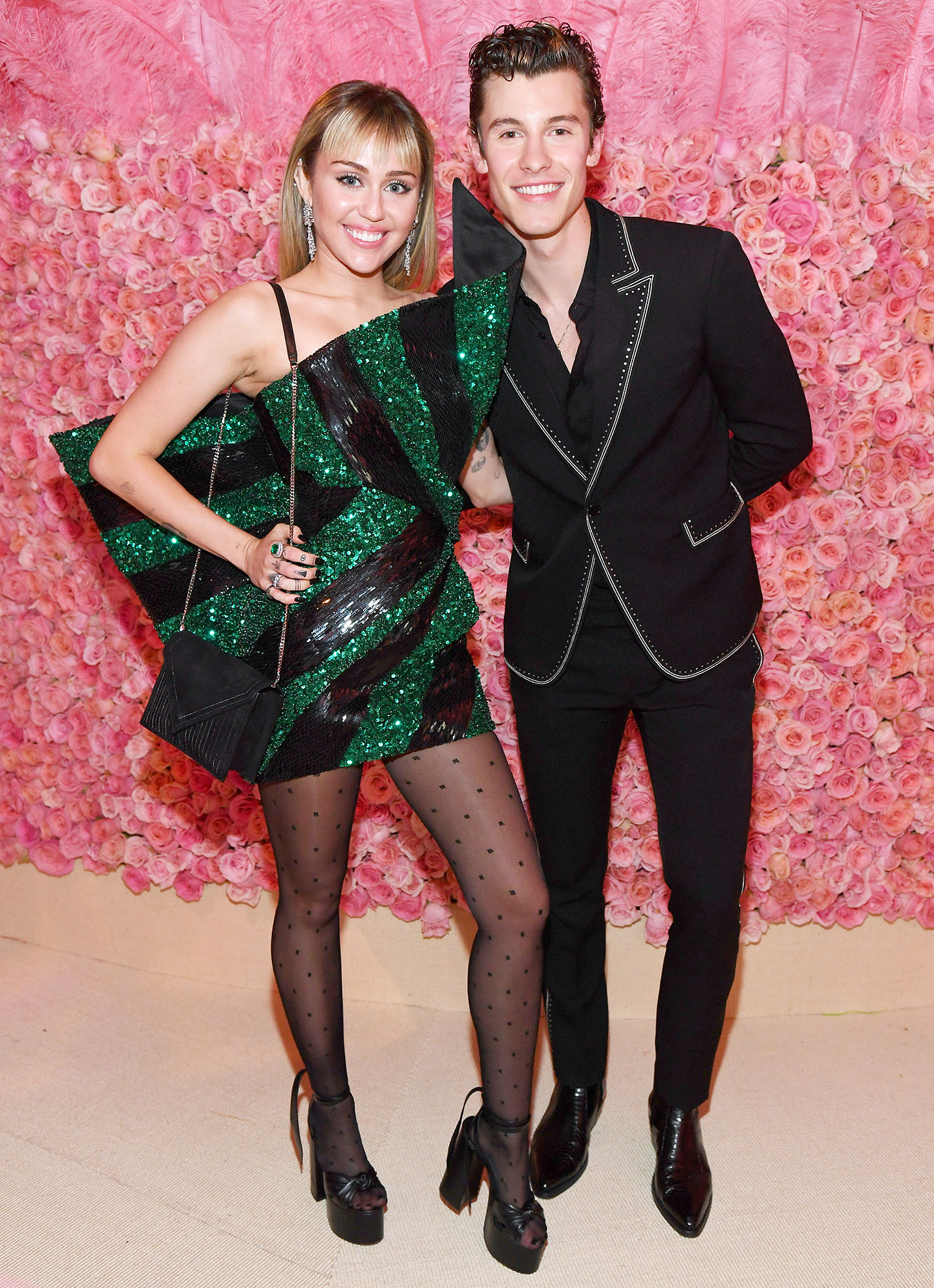 Met Gala 2019 What You Didnt See Miley Cyrus Shawn Mendes - Cyrus and Shawn Mendes caught up after performing together at the Grammys in February.
