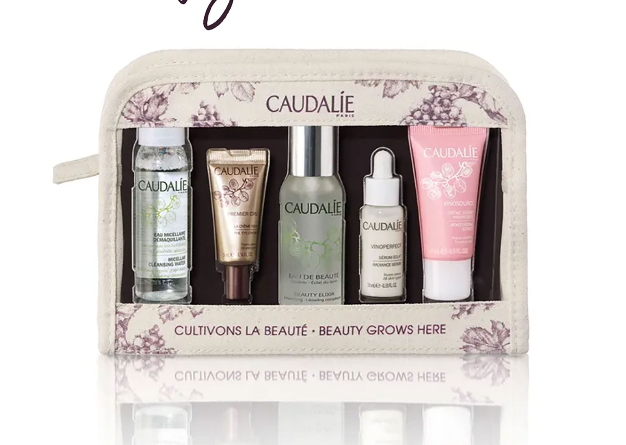 Caudalie Favorites Set Mother's Day Gift Guide - This travel-sized kit of the French skincare brand's bestselling products will make her summer vacay packing a snap. $44, us.caudalie.com