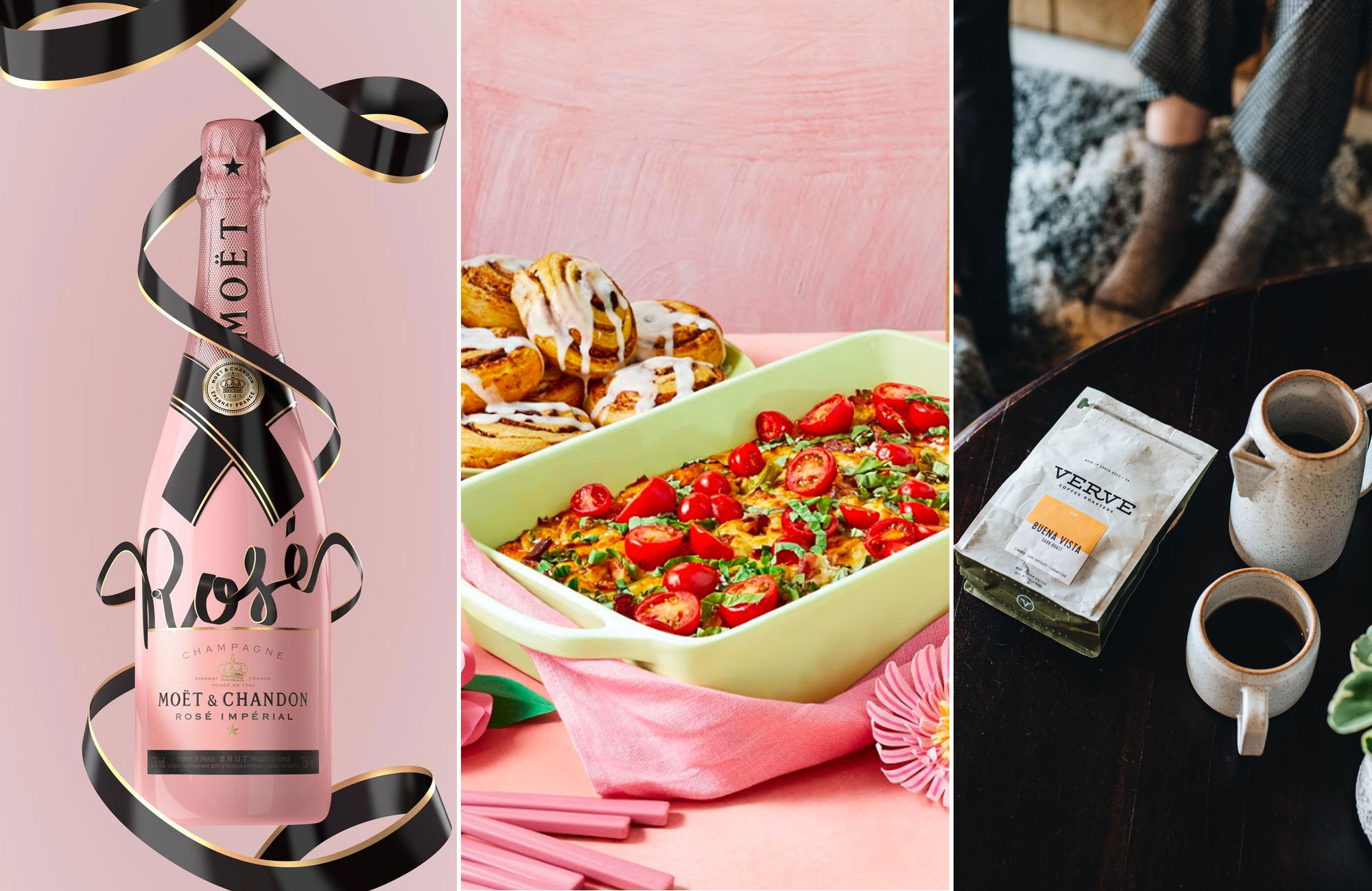 Moët & Chandon Rose Brunch Box Coffee Subscription BoxMother's Day Gifts for the Foodie in Your Life - Moët & Chandon Rose, Brunch Box, Coffee Subscription Box