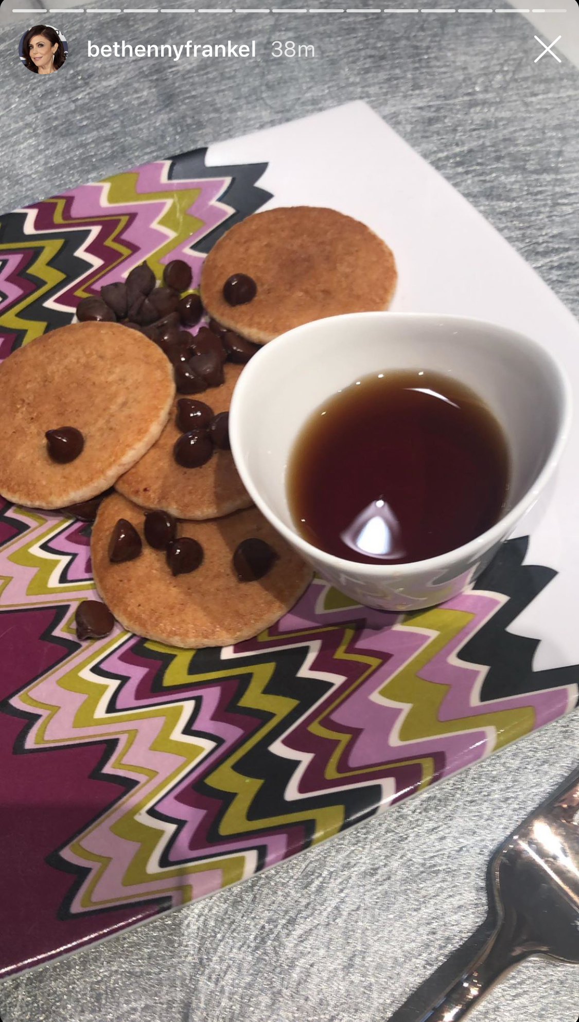 "Mothers' Day Meals - The Real Housewives of New York City star was treated to breakfast on Mother's Day, likely courtesy of her 9-year-old daughter, Bryn Hoppy. According to the Skinnygirl founder's Instagram Stories, her little ""peanut"" prepared a plate of silver dollar pancakes with syrup and chocolate chips."