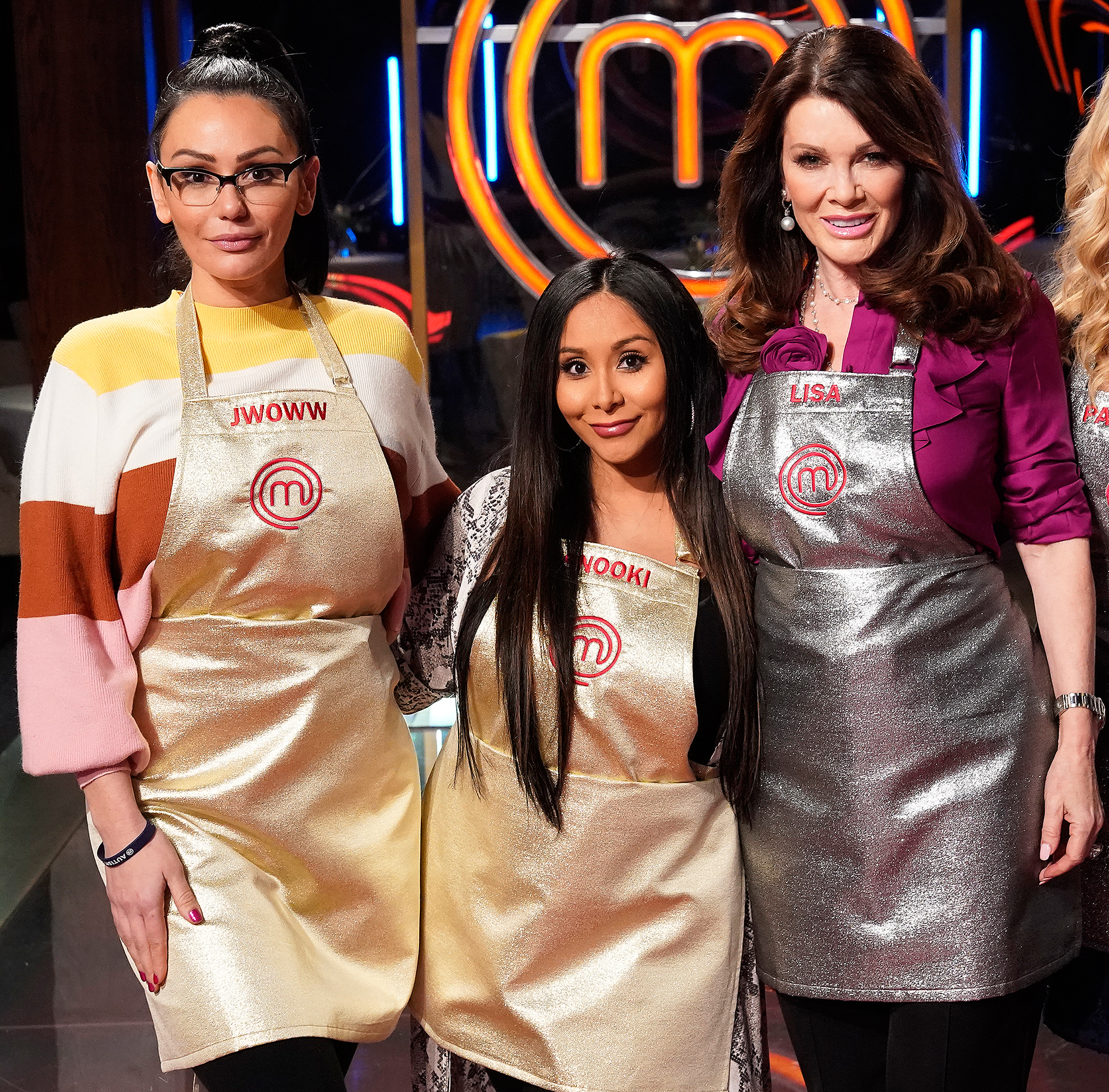 Nicole Snooki Polizzi Jenni JWoww Farley Lisa Vanderpump MasterChef - JWoww, Snooki and Lisa Vanderpump on 'MasterChef.