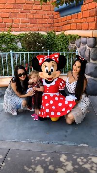 Nikki Bella and Artem Chigvintsev Double Date With Brie Bella at Disneyland