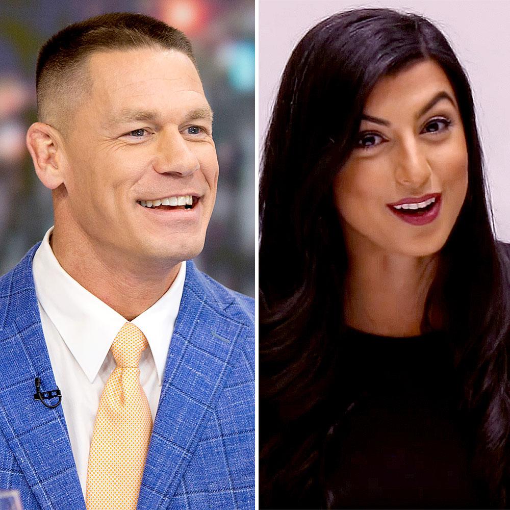 Nikki Bella Loved Seeing Ex John Cena Move On Shay Shariatzadeh - John Cena and Shay Shariatzadeh.
