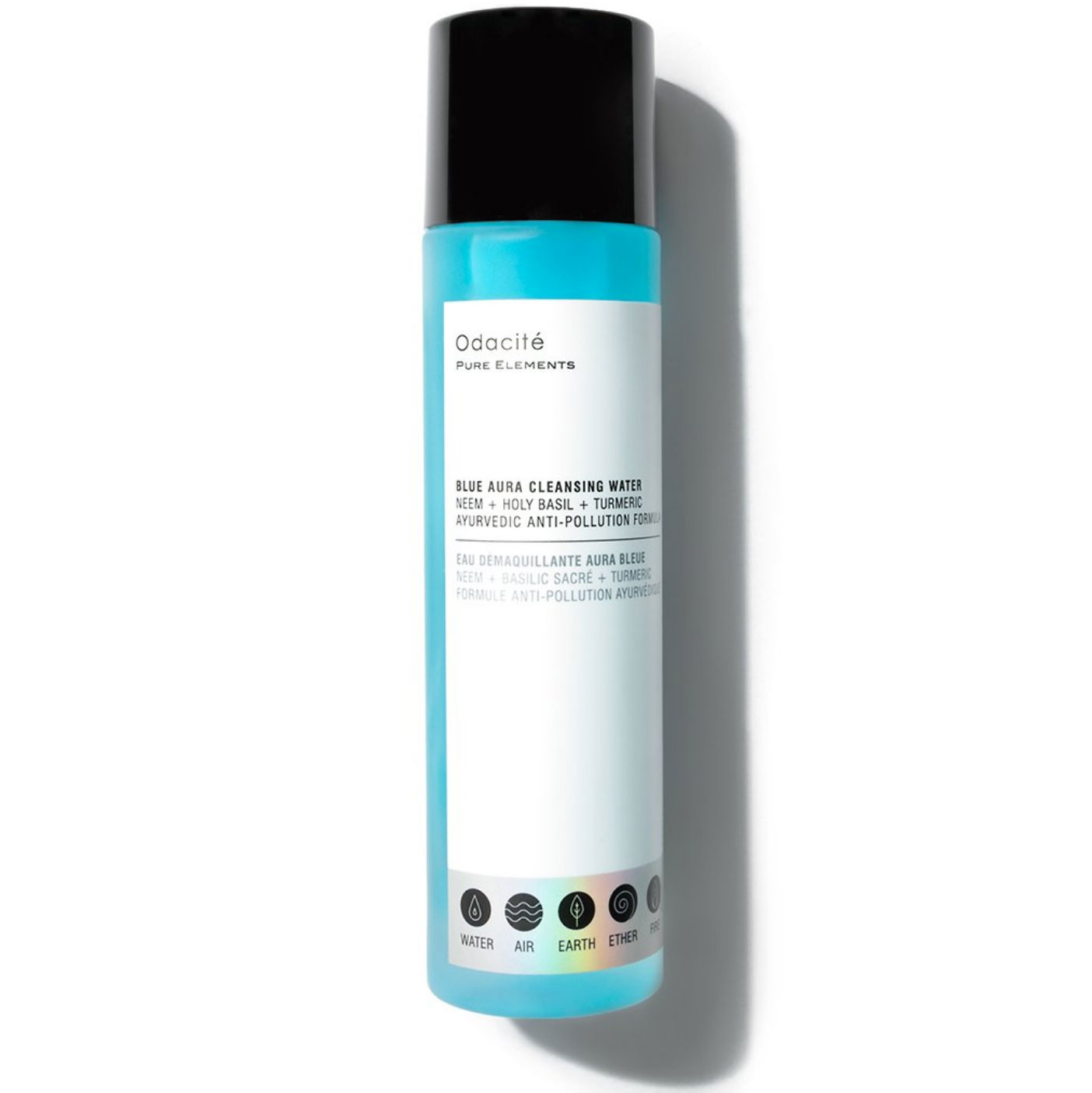 Odacite Blue Aura Cleansing Water Best New Products - You'll never have an excuse not to wash your face again thanks to this no-rinse, micelles cleanser that removes pollution, impurities and even the toughest makeup in one easy step. $39, odacite.com