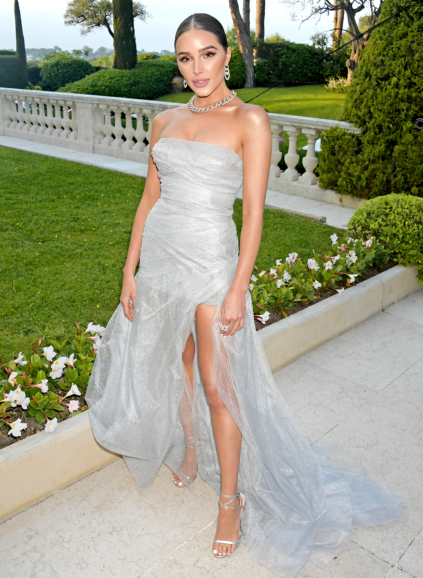 Olivia-Culpo - The former Miss Universe was shimmering in a strapless Ermanno Scervino number at the amfAR Cannes Gala on Thursday, May 23.