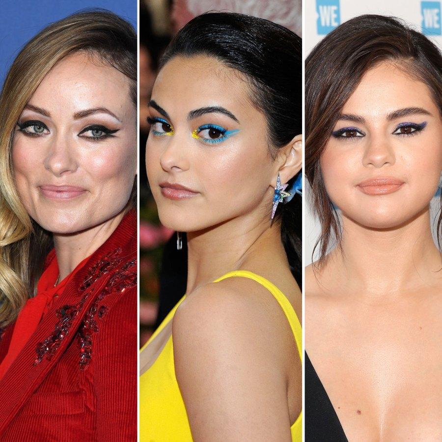 Olivia Wilde Camila Mendes Selena Gomez Fresh Cat Eye