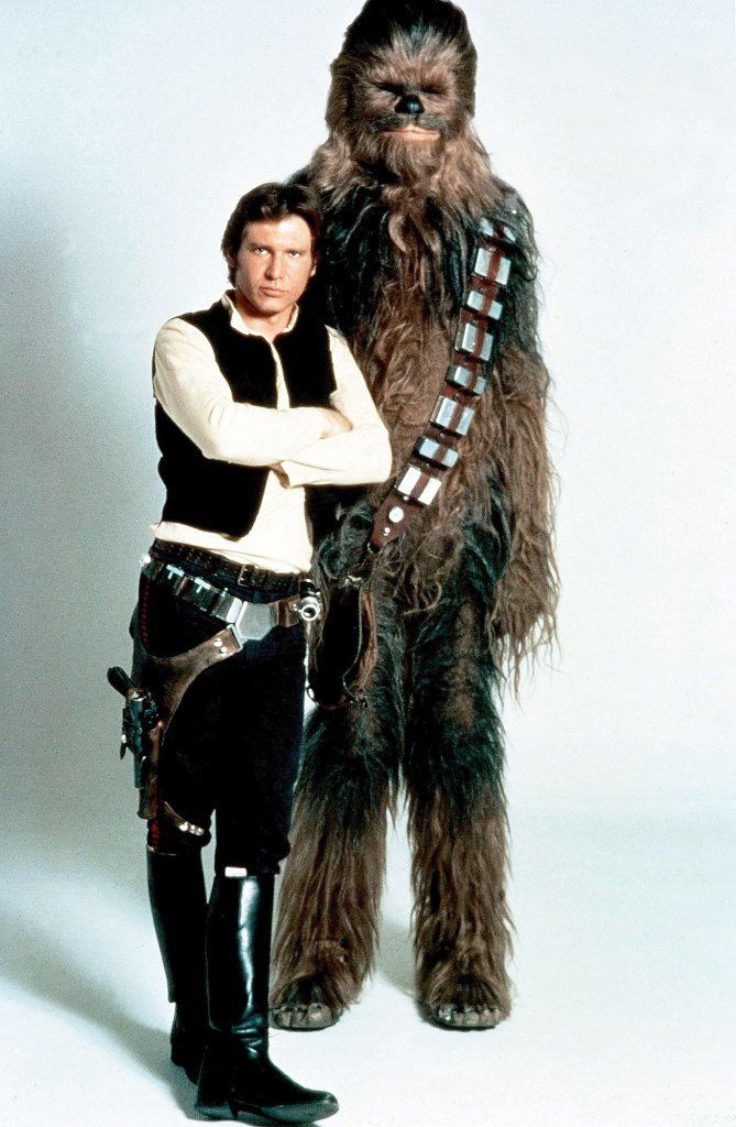 Peter Mayhew Death with Harrison Ford