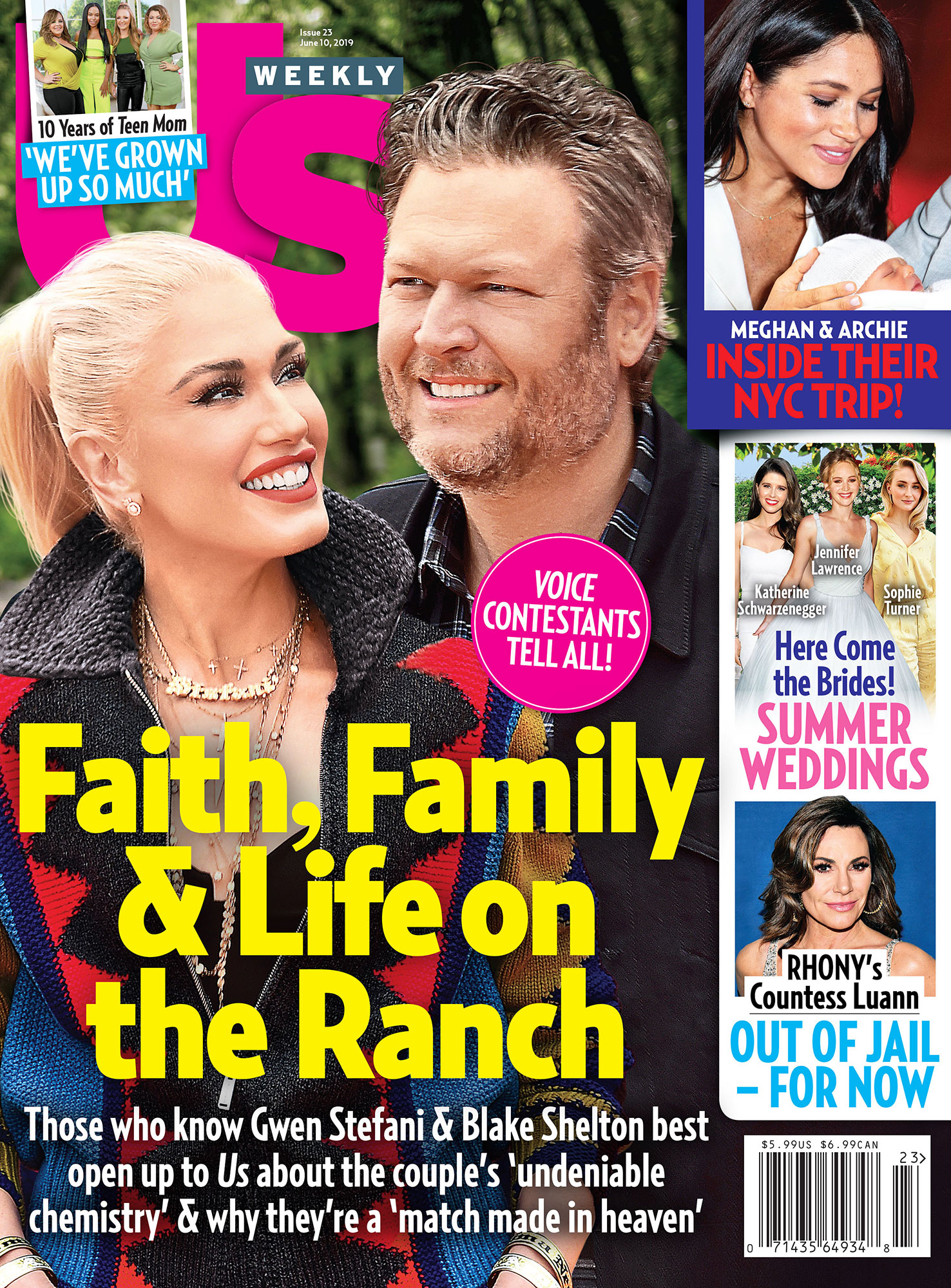 Prince Harry Megan Archie Adjusting to Parenthood UW2319 Us Weekly Cover Gwen Stefani Blake Shelton
