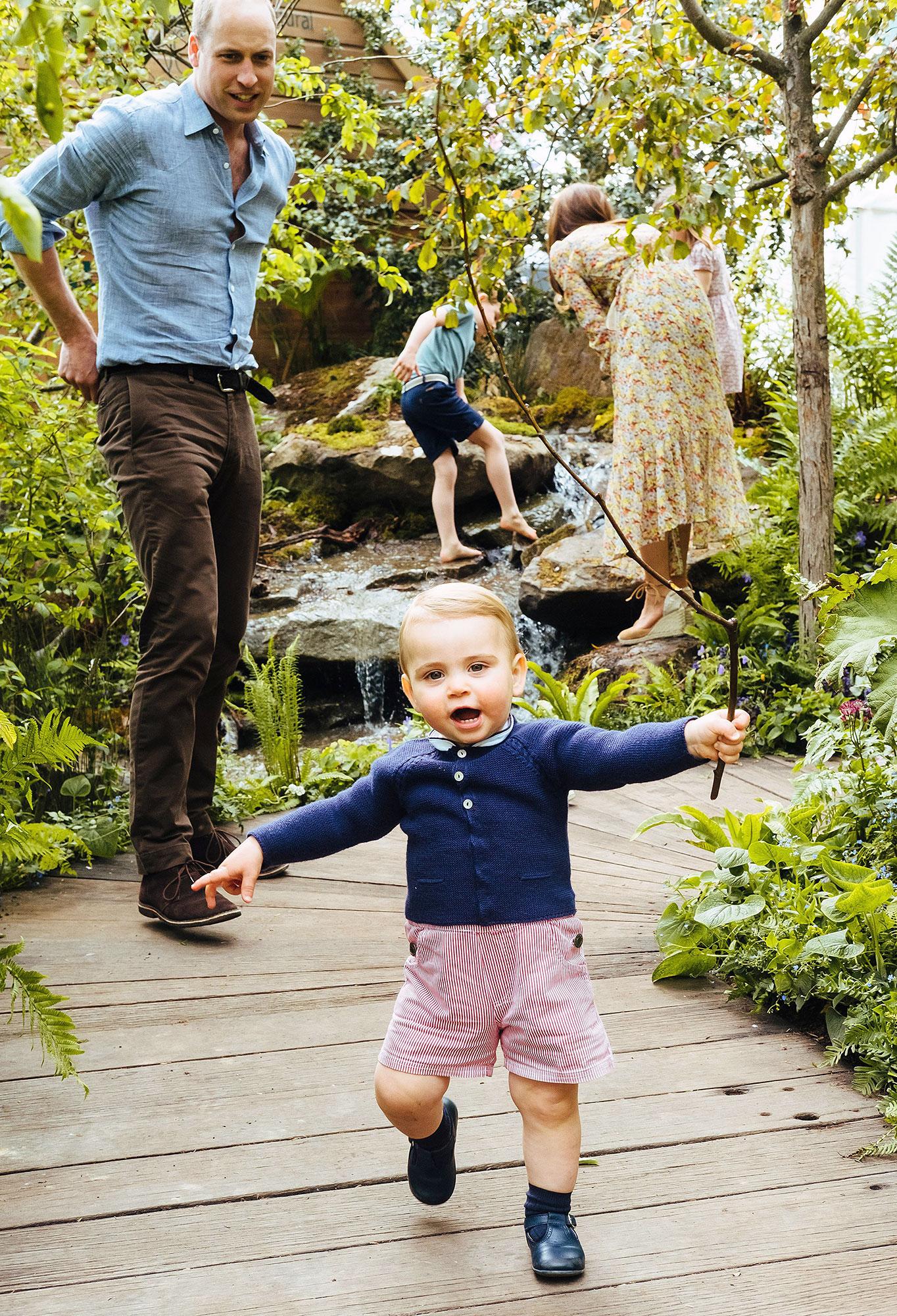 Prince Louis Walking
