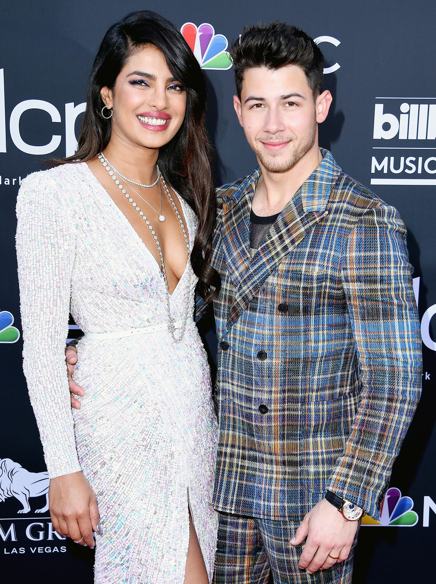 Priyanka Chopra Jonas Diversity Skin Care Unwind Nick Jonas - Priyanka Chopra and Nick Jonas attend the Billboard Music Awards at MGM Grand Garden Arena on May 1, 2019 in Las Vegas.