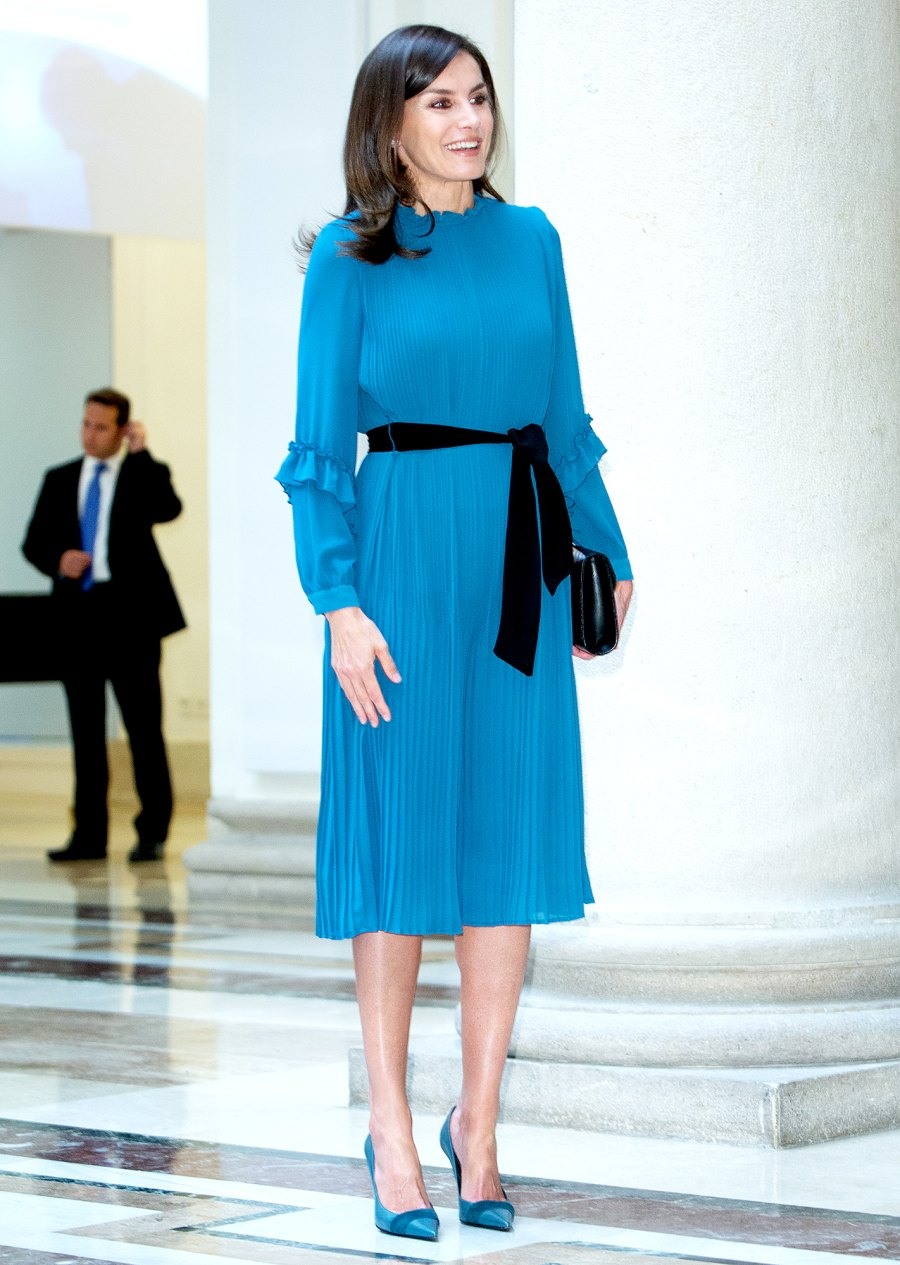 Queen-Letizia-Rewears-a-Zara-Jumpsuit