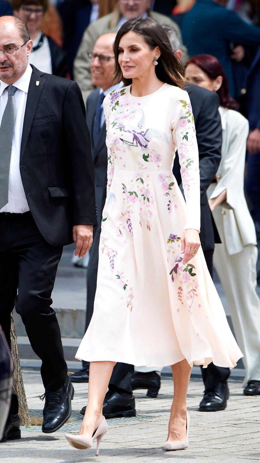 Queen Letizia Wore an $85 ASOS Dress — Again