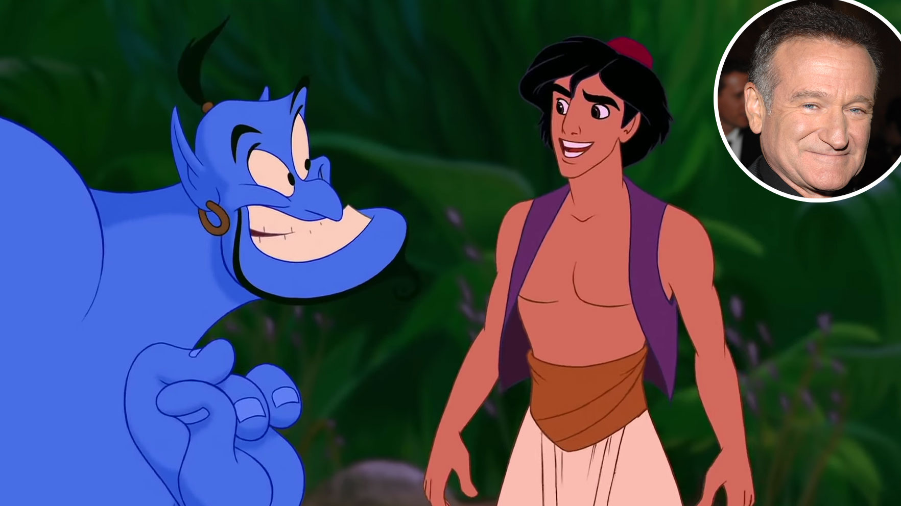 Robin Williams Genie Aladdin Voice Over Disney and Pixar Characters - The Genie in Aladdin (1992)