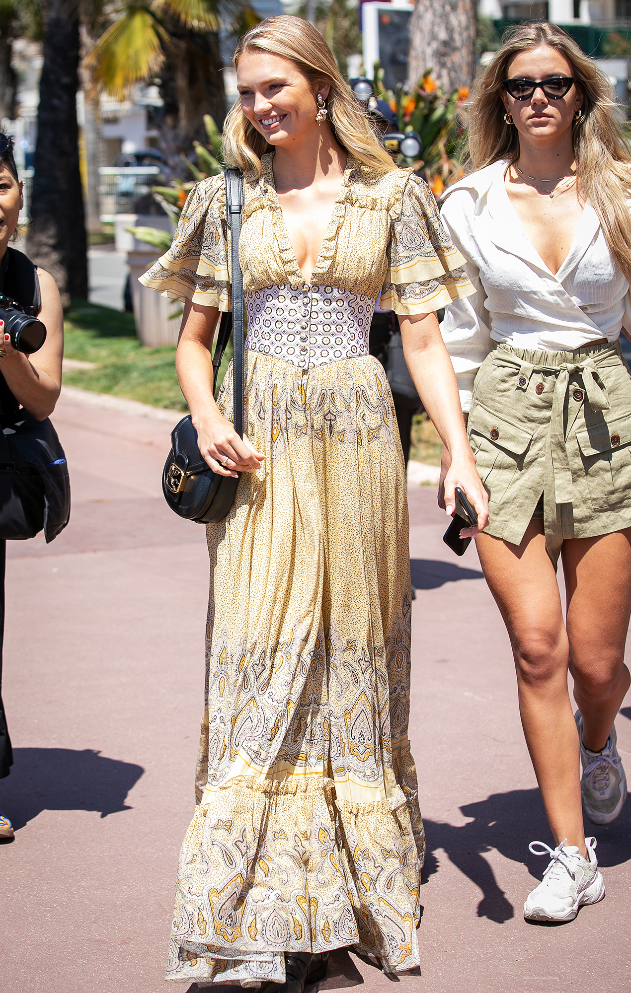 Romee-Strijd - It was all about the boho vibes for the model in a printed maxidress on Wednesday, May 15.