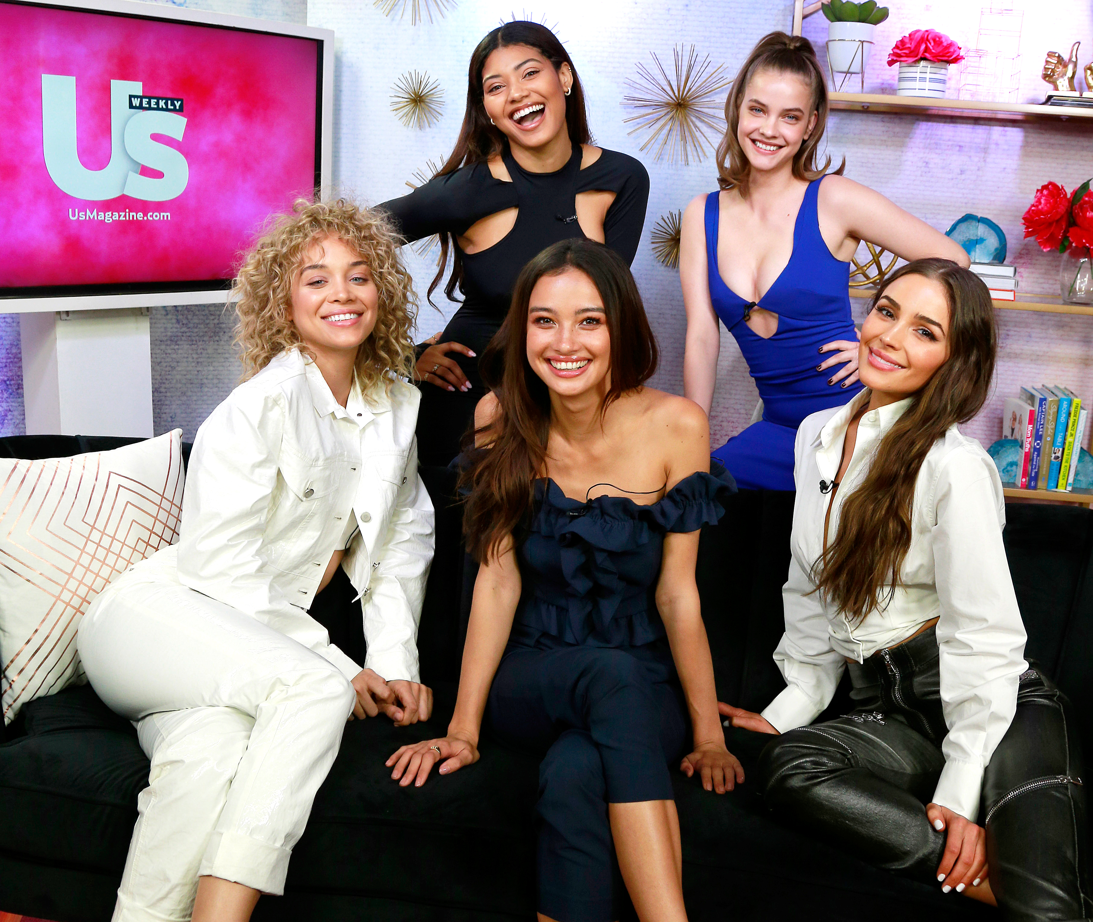 SI Swimsuit Models Reveal How They Prepped for Their Shoots - Sports Illustrated swimsuit models pose at the AMI studio on May 8, 2019 in New York City.