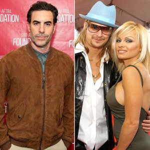 Sacha Baron Cohen Pam Anderson Kid Rock Split Over Borat Character