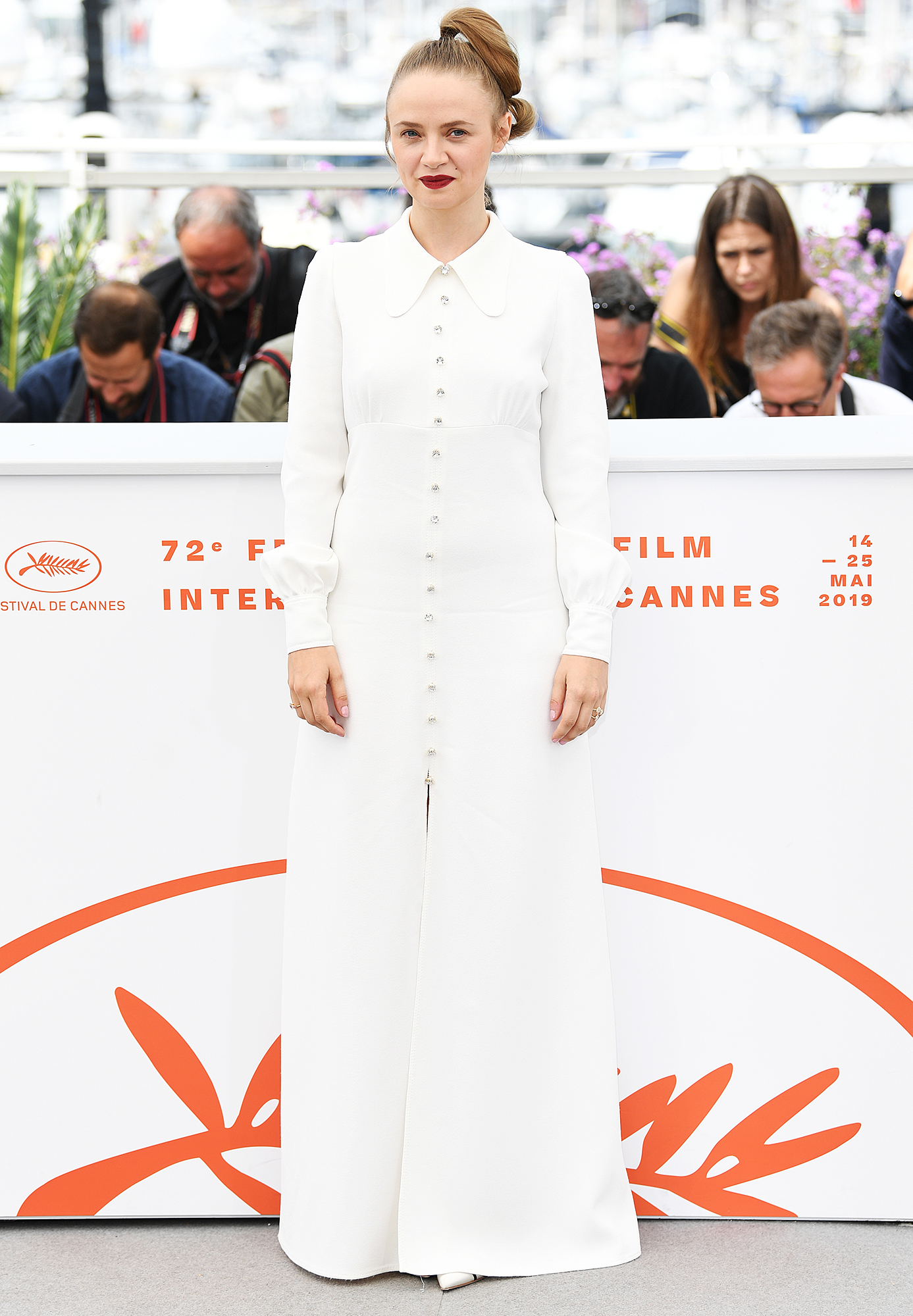 Sara-Forestier - We're not sure what we love more about the Oh Mercy! actress' look at the film's photo-call on Thursday, May 23: her buttoned-up maxi or perky ponytail.