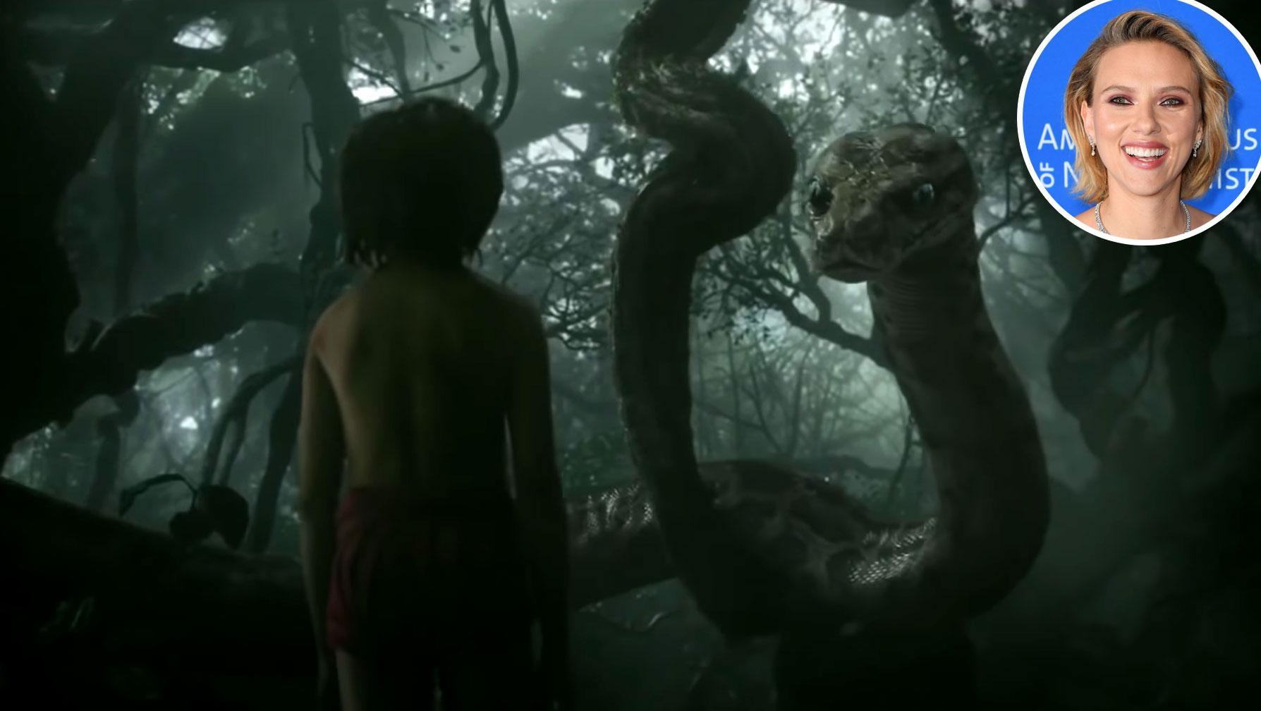 Scarlett Johansson Kaa Jungle Book Voice Over Disney and Pixar Characters - Ka in The Jungle Book (2016)