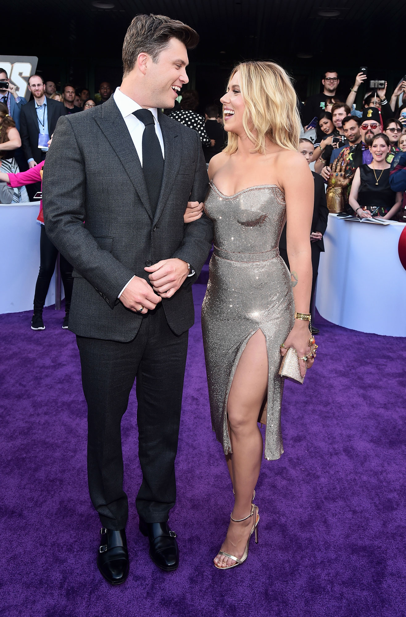 Scarlett Johansson and Colin Jost Relationship Timeline Avengers Endgame - Johansson's publicist confirmed to the Associated Press that the couple are engaged. They have not set a wedding date yet.
