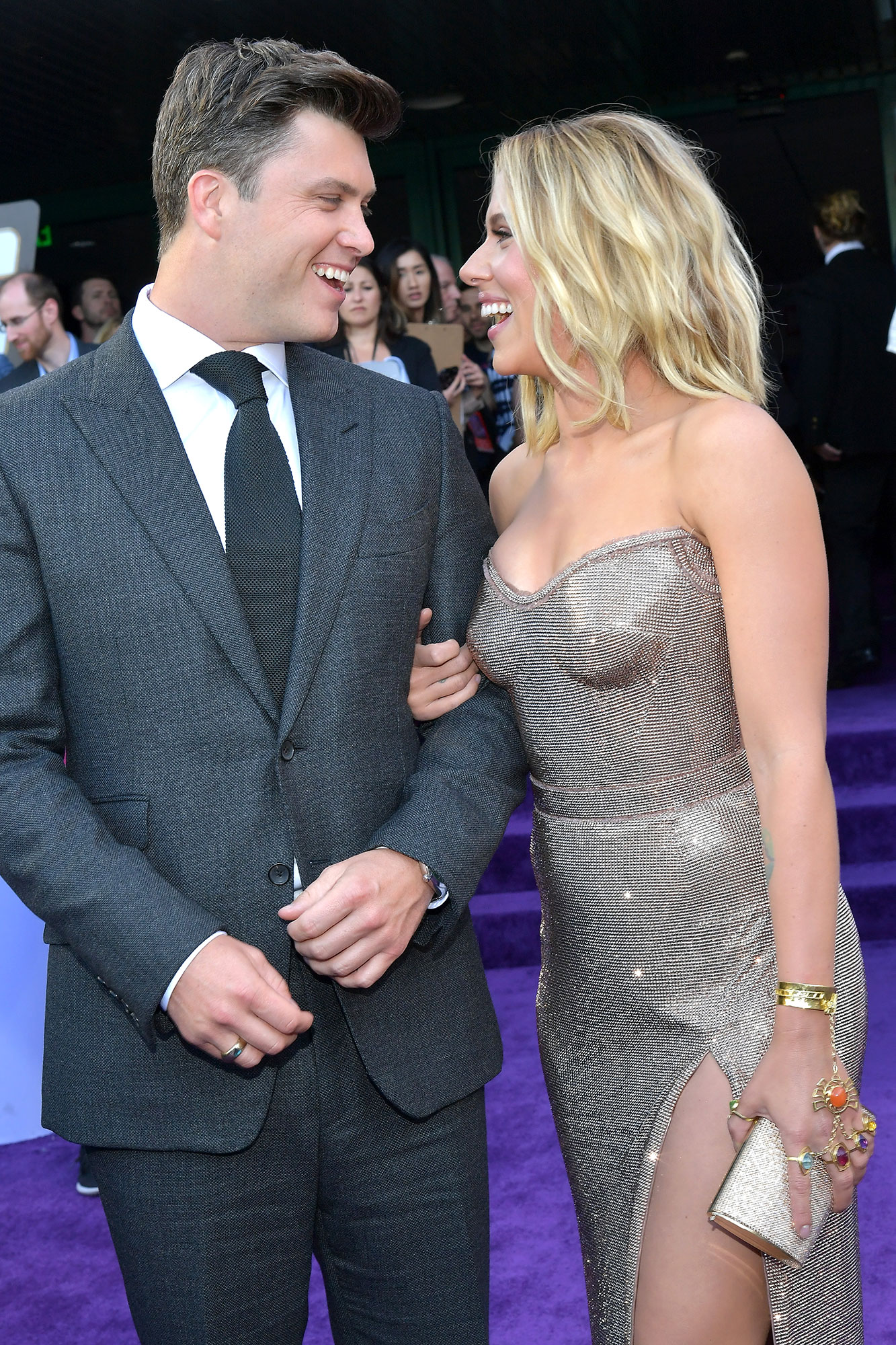 """Scarlett Johansson and Colin Jost Relationship Timeline Avengers Endgame - Johansson and Jost spent the July 4 weekend in Montauk, New York, with his brother, Casey, and Casey's wife, Lisa Kleinman. """"[They were] making out"""" on Ditch Plains Beach, an eyewitness told Us ."""