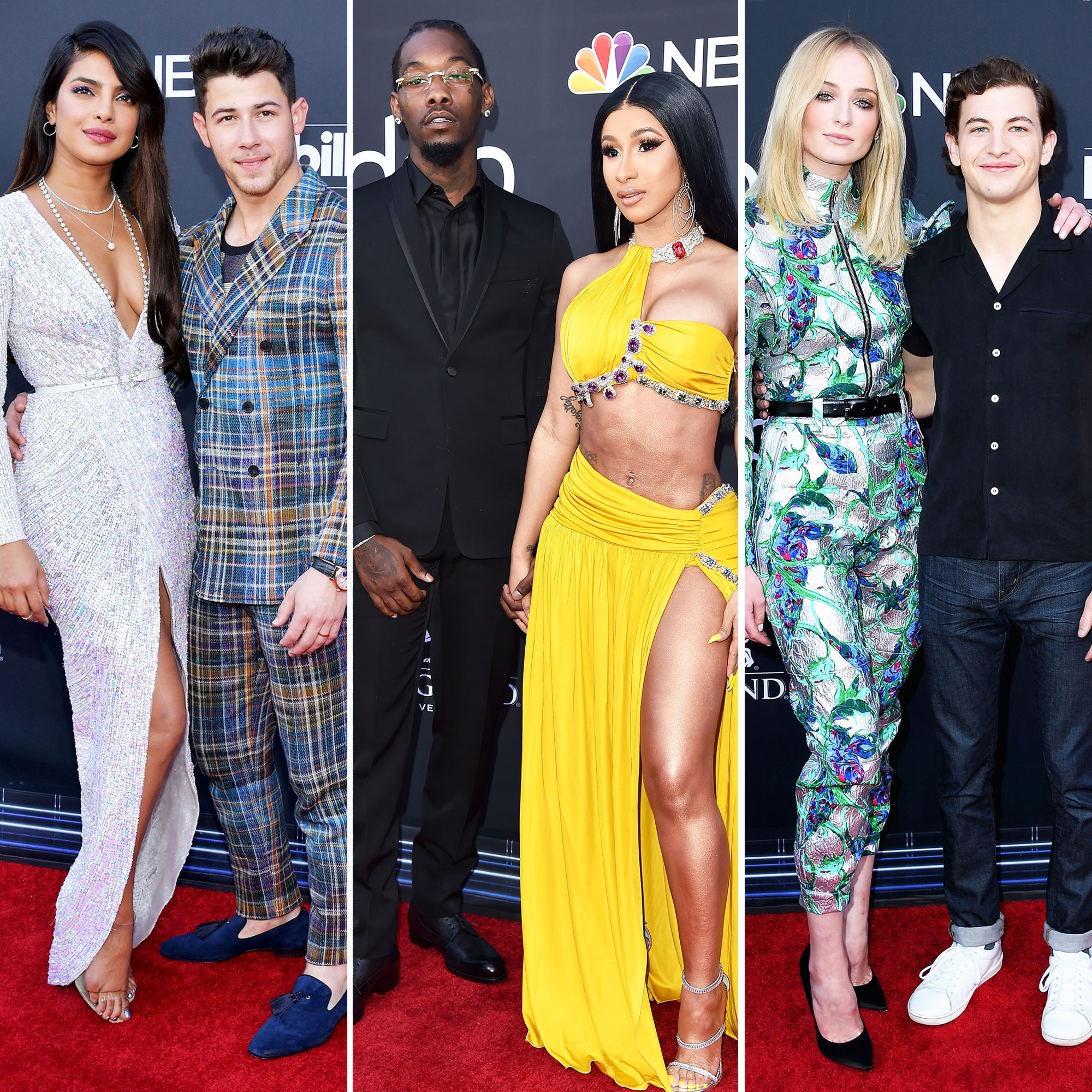 See the Hottest Couples at the BBMAs Priyanka Chopra, Nick Jonas, Offset, Cardi B, Sophie Turner, and Tye Sheridan - Priyanka Chopra, Nick Jonas, Offset, Cardi B, Sophie Turner, and Tye Sheridan