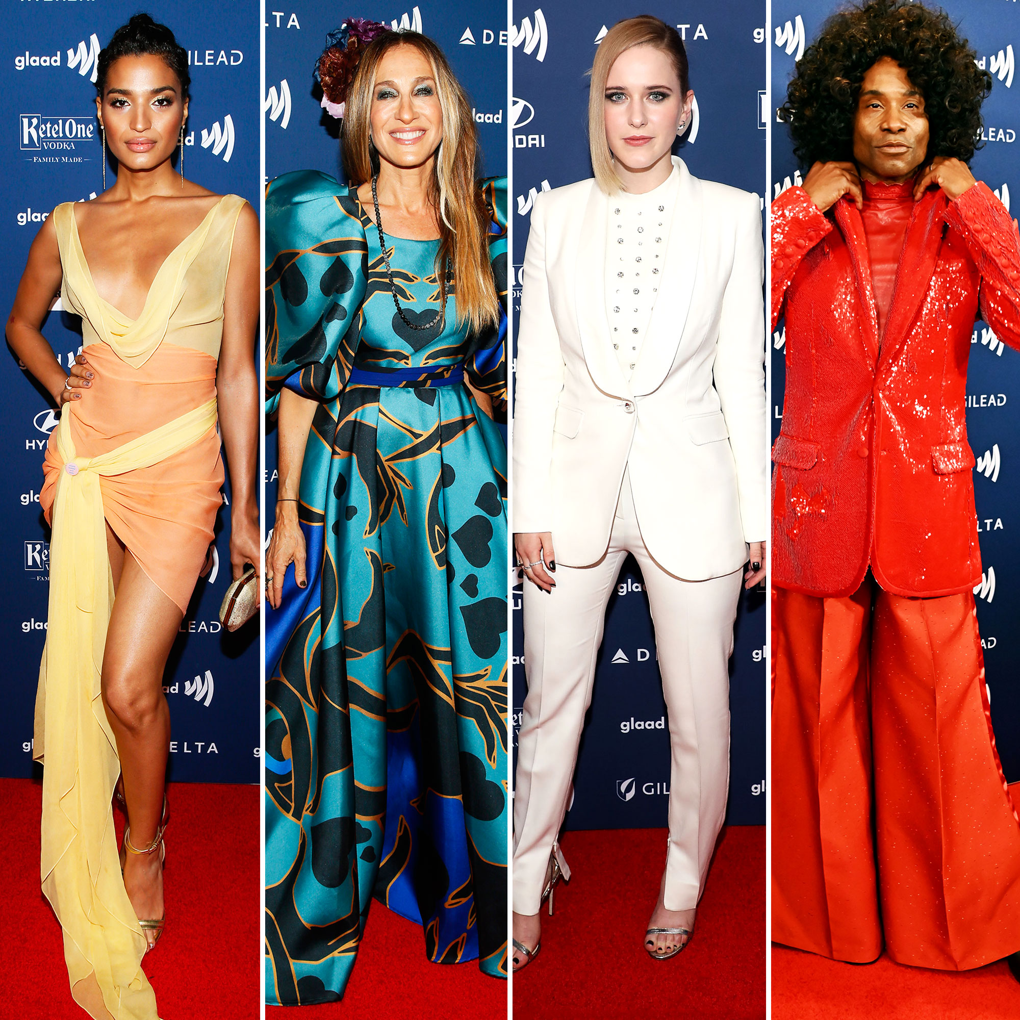 See the Stars at the GLAAD Awards Indya Moore, Sarah Jessica Parker, Rachel Brosnahan, and Billy Porter - Indya Moore, Sarah Jessica Parker, Rachel Brosnahan, and Billy Porter