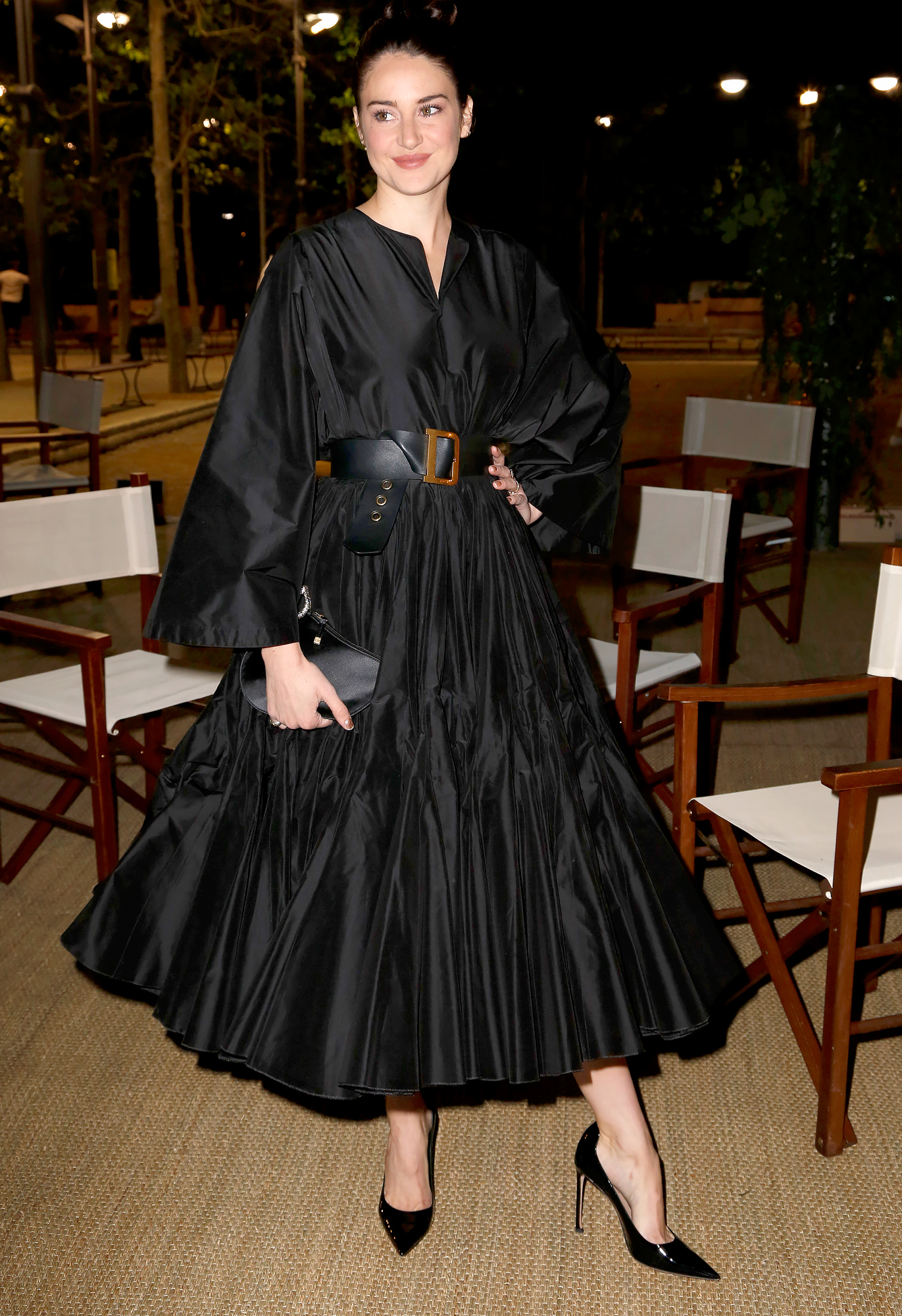 Shailene-Woodley-Cannes - Black was anything but boring for the Big Little Lies star in a flamenco-inspired Dior frock at a dinner for the fashion house on Wednesday, May 15.