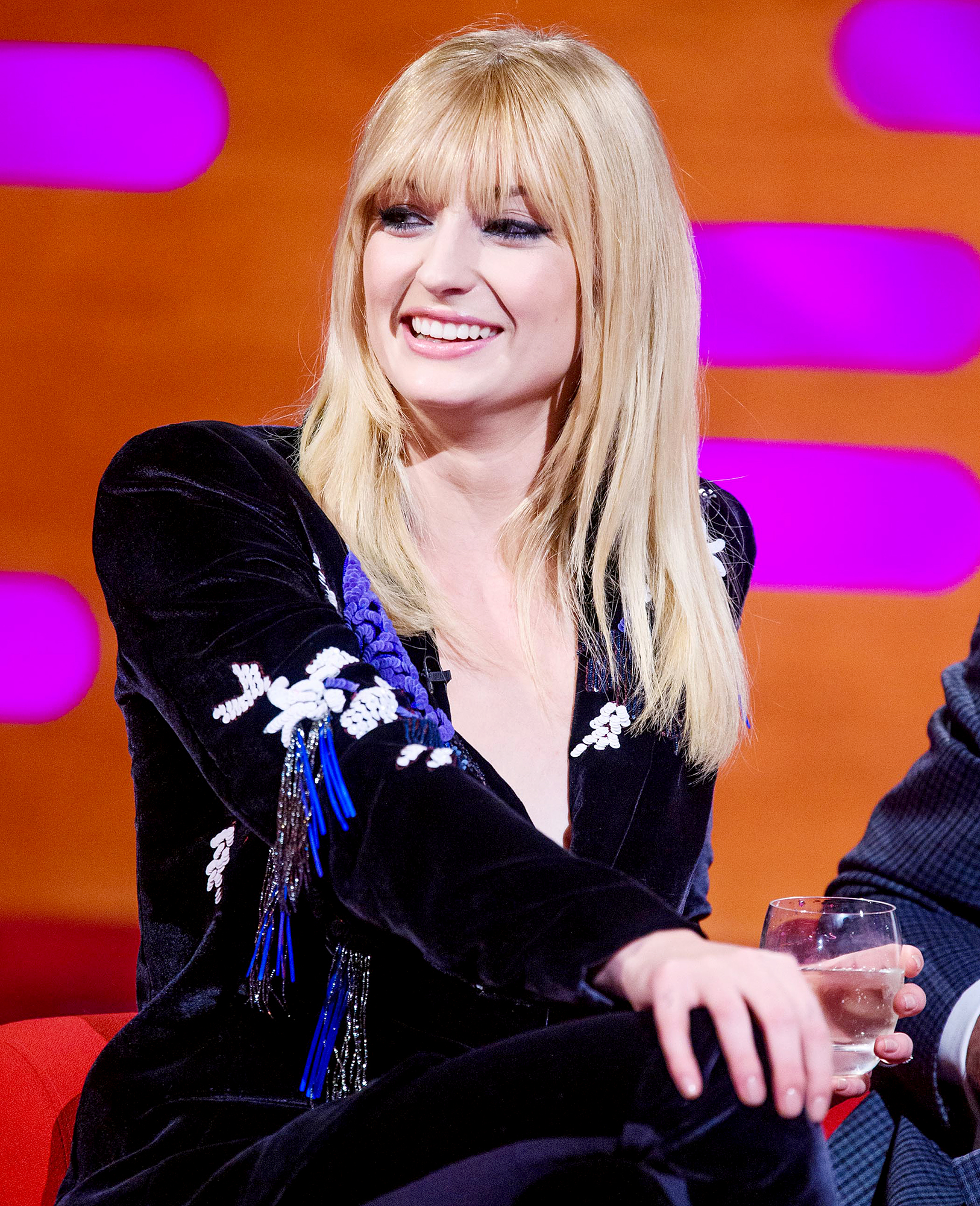 Sophie-Turner-second-wedding-date - Sophie Turner during the filming of the Graham Norton Show at BBC Studioworks 6, Television Centre, Wood Lane, London.