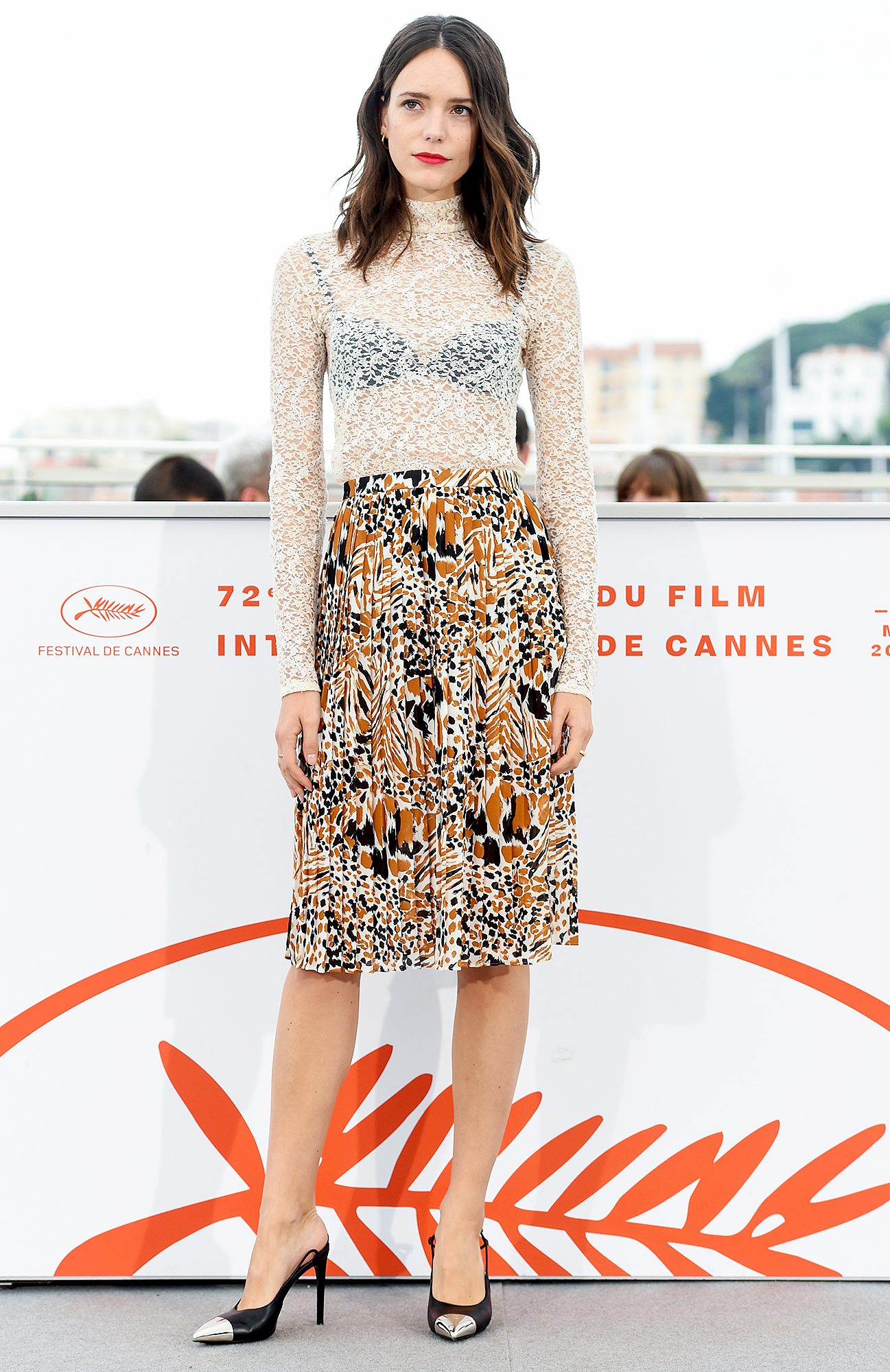 Stacy-Martin - A sheer top looked cool with the actress' pleated skirt at the Jury De La Cinefondation Et Des Courts Metrages photo-call on Friday, May 24.