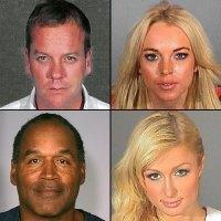 Kiefer Sutherland Lindsay Lohan OJ Simpson Paris Hilton Mugshot