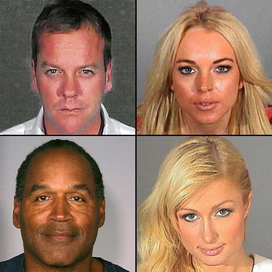 Kiefer Sutherland Lindsay Lohan OJ Simpson Paris Hilton Mugshots