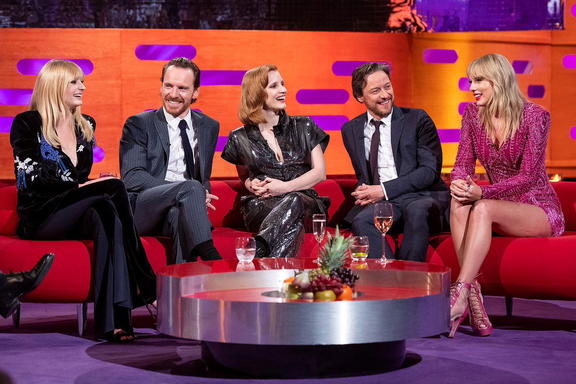 Taylor Swift and Sophie Turner Graham Norton Show - The Dark Phoenix cast shared a laugh with Swift.