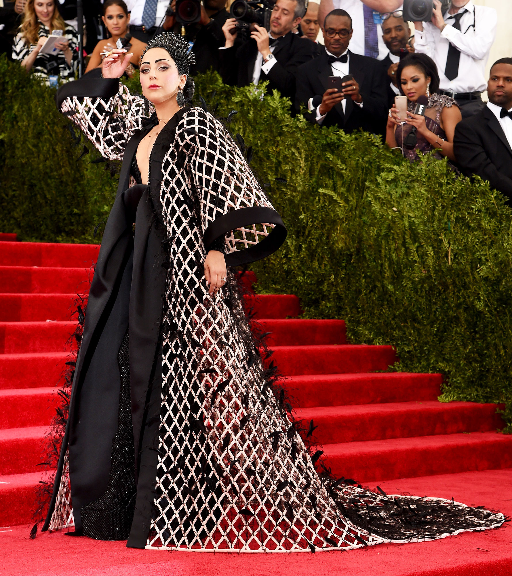 Lady Gaga The Wild Met Gala Red Carpet Fashion Looks We Can't Stop Thinking About - In Alexander Wang.